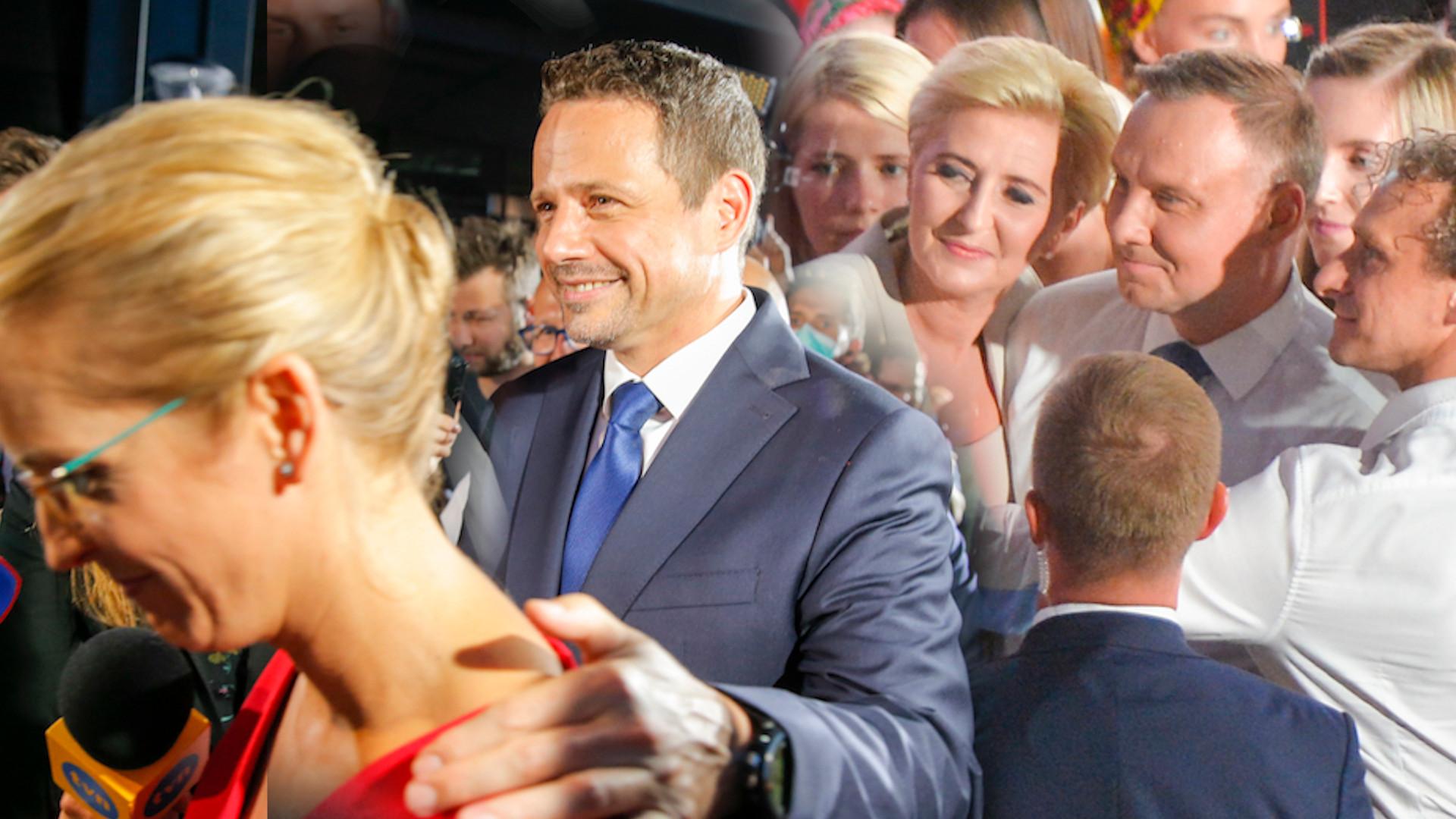 Wieczór wyborczy Dudy i Trzaskowskiego. Tak zaprezentowały się żony kandydatów