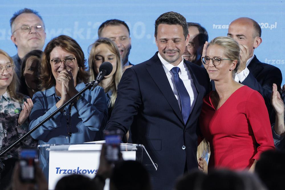 Rafał Trzaskowski i Malgorzata Trzaskowska. Fot. Andrzej Hulimka / Forum