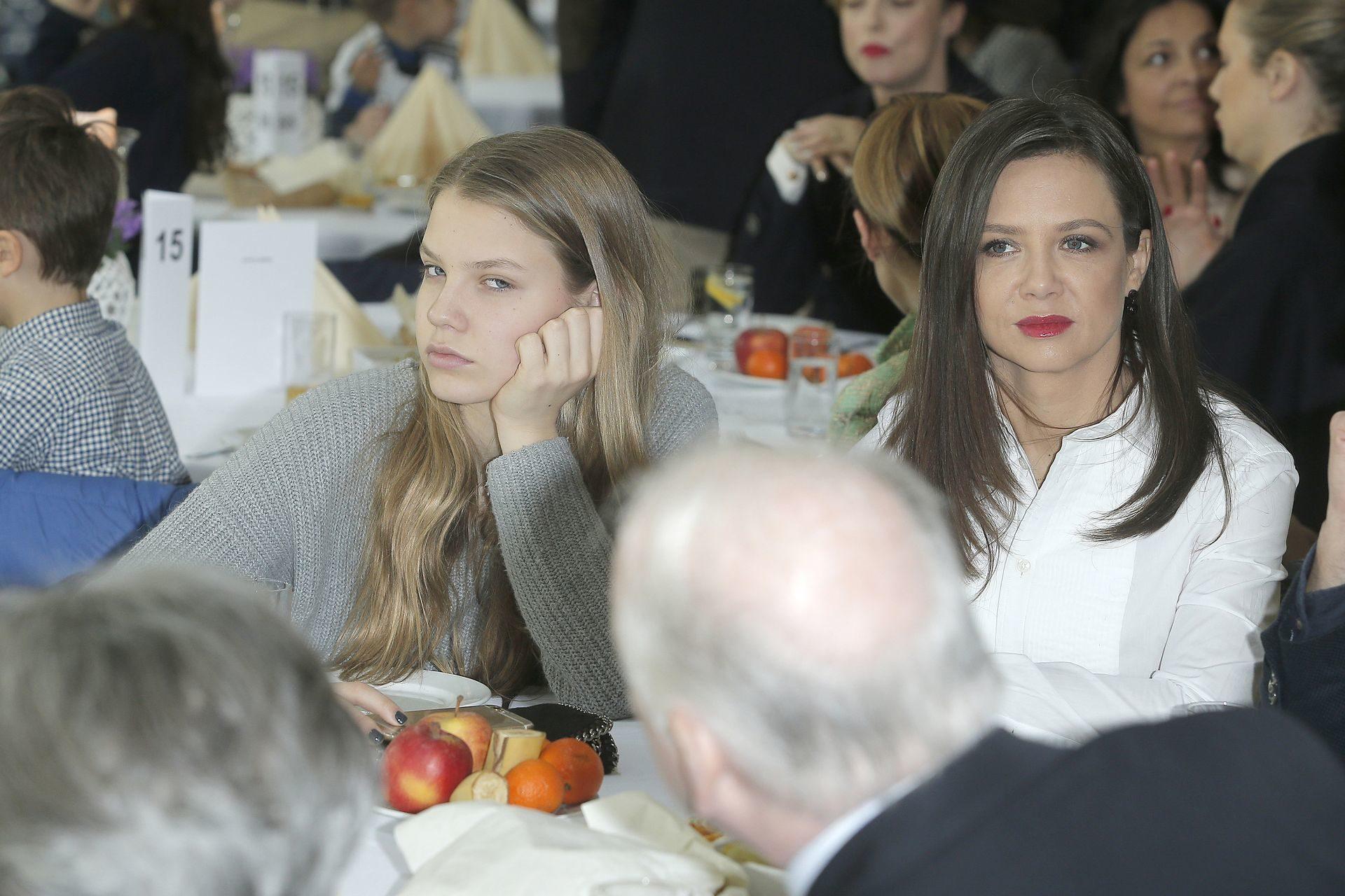 Kinga Rusin z córką Igą Lis.