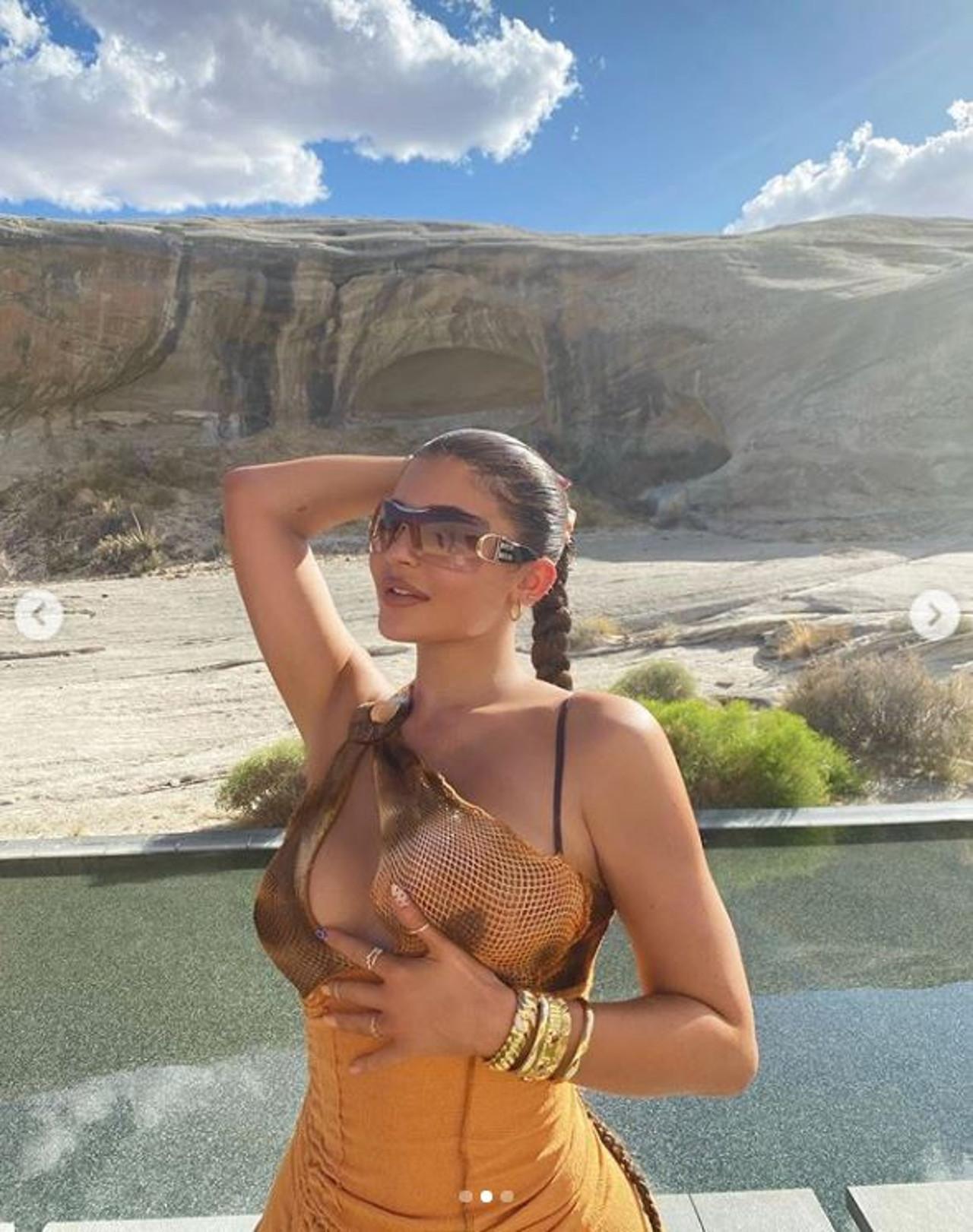 Kylie Jenner na wakacjach.