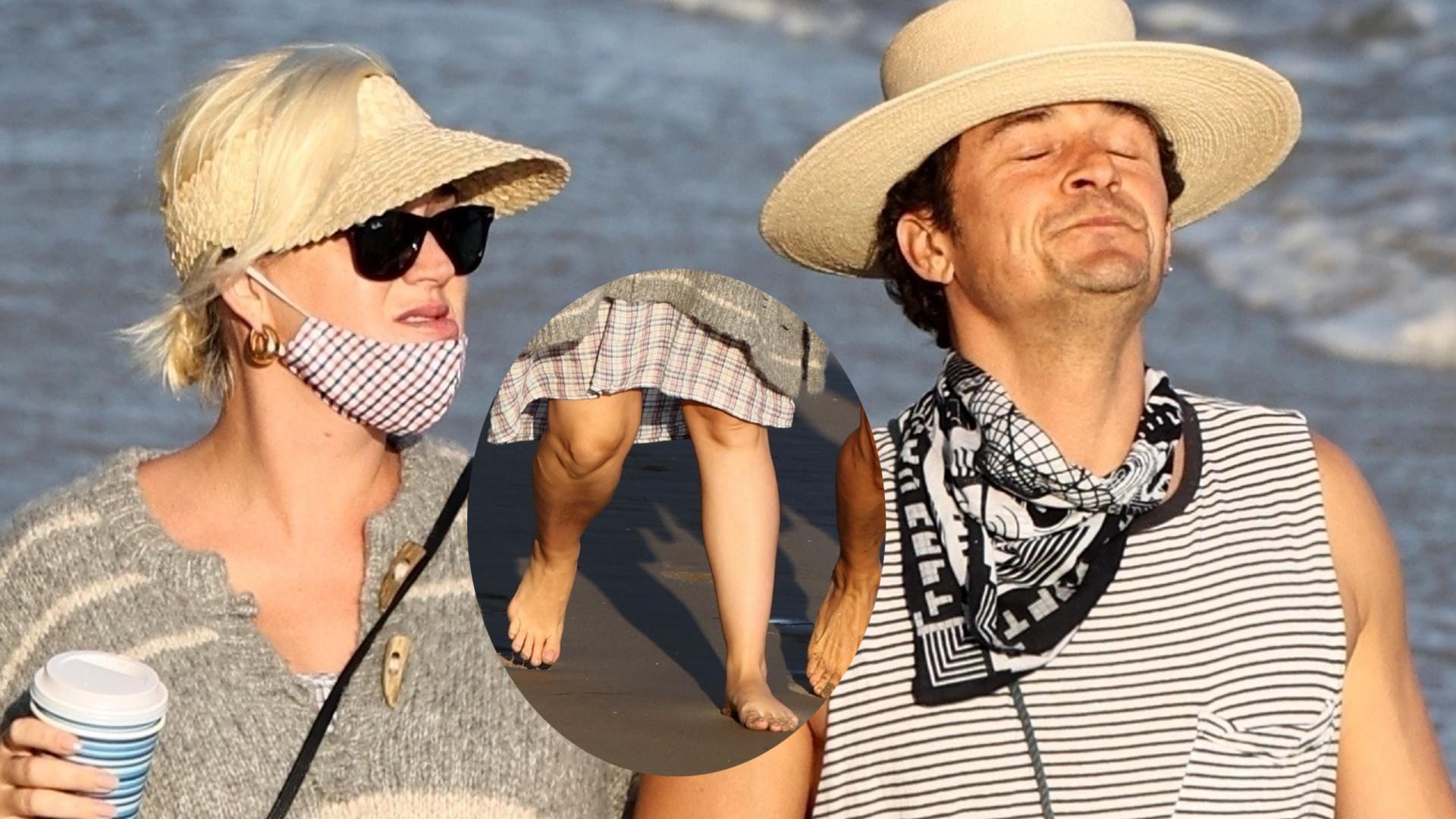 Katy Perry w ciąży puchną nogi – 35-letnia gwiazda z Orlando Bloomem na spacerze (ZDJĘCIA)