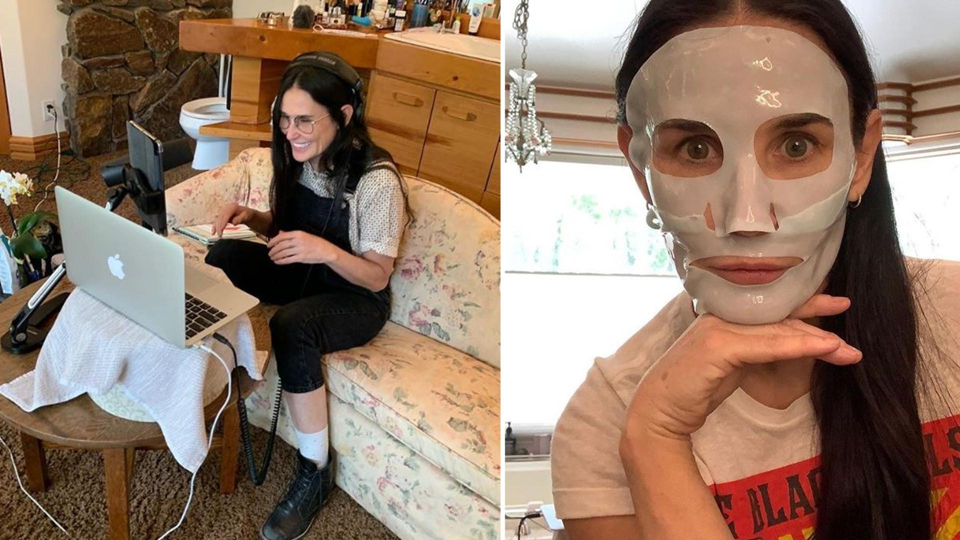 """Demi Moore nietypowo urządziła dom: """"Nie mogę stwierdzić, czy to jest kanapa w łazience, czy toaleta w salonie"""""""