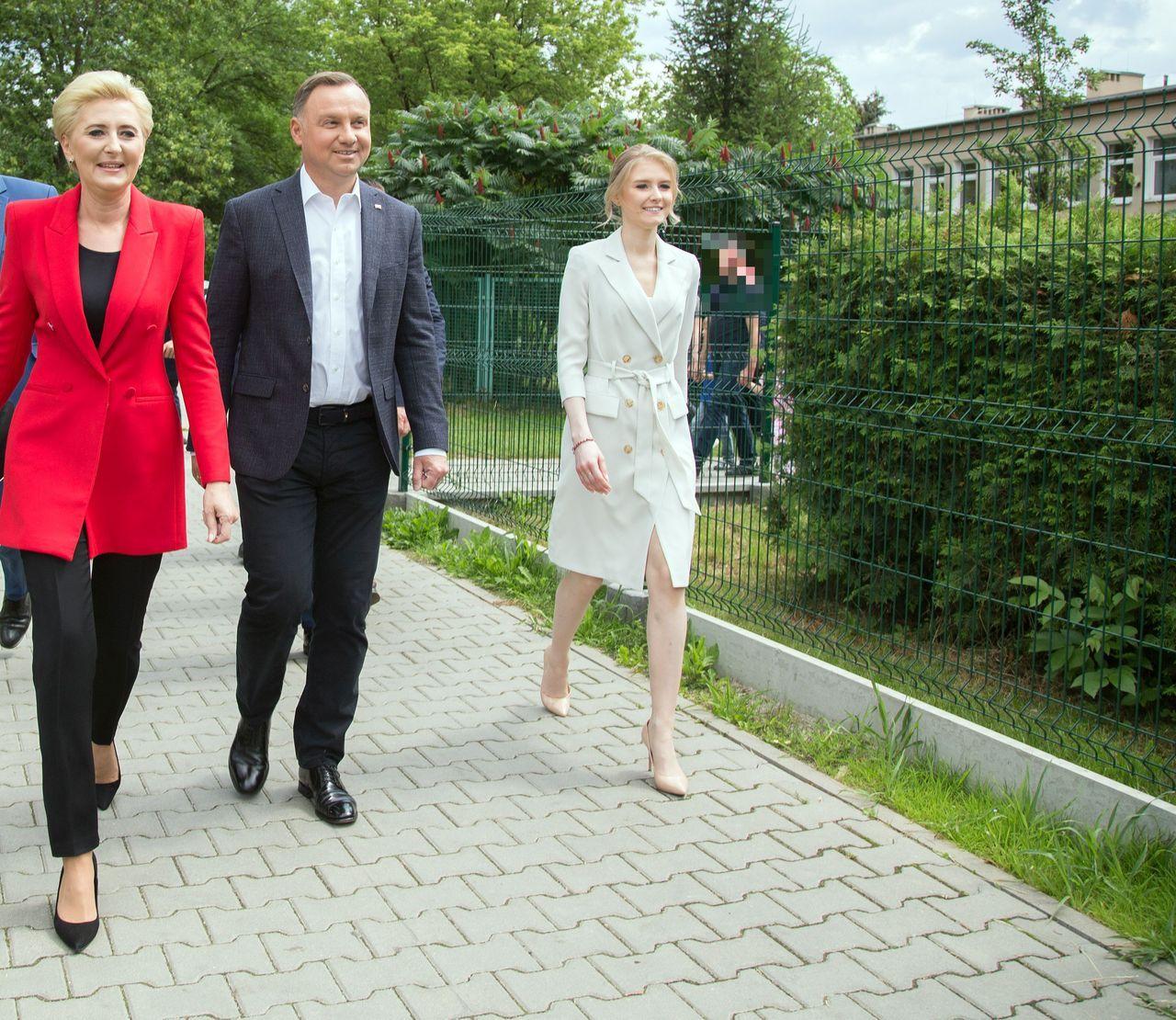 Agata i Andrzej Duda z córką