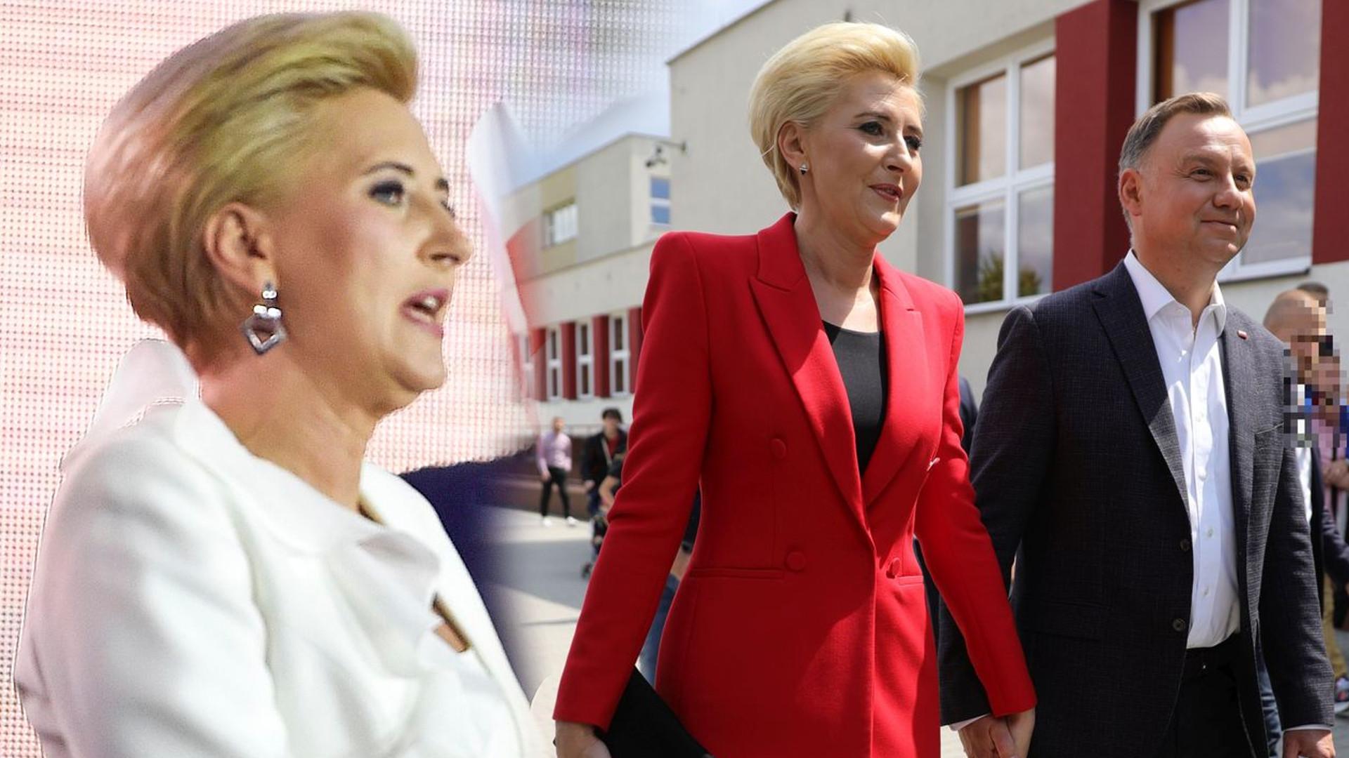 """Agata Duda nie udzielała się w mediach z powodu """"sprzeciwu"""" – na wieczorze wyborczym zabrała głos i zaliczyła WPADKĘ"""