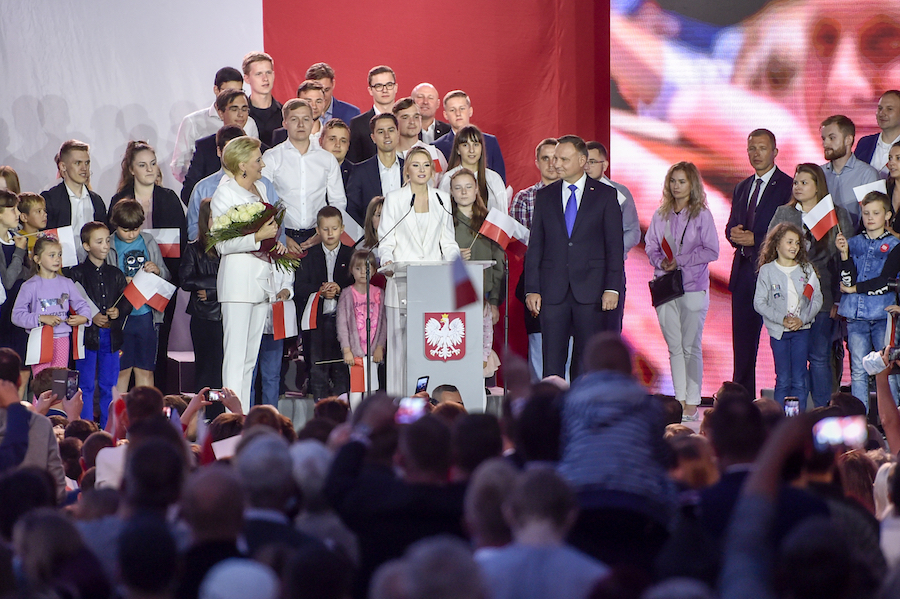 Andrzej Duda, Agata Kornhauser-Duda, Kinga Duda. Fot. Kurnikowski/AKPA