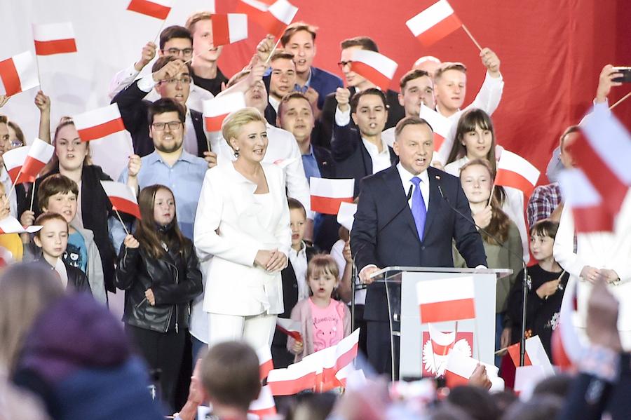 Andrzej Duda i Agata Kornhauser-Duda, Kinga Duda. Fot. AKPA