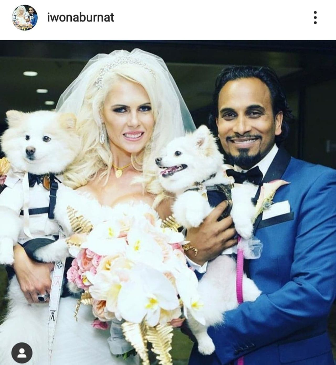Iwona Burnat i Reggie Benjamin na swoim ślubie