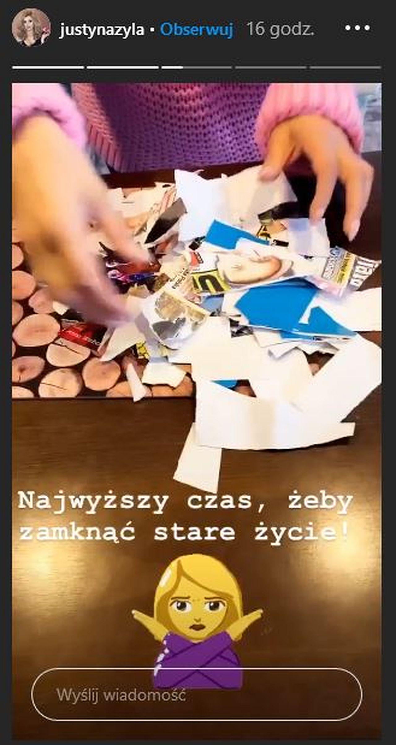 Justyna Żyła niszczy pamiątki po Piotrze