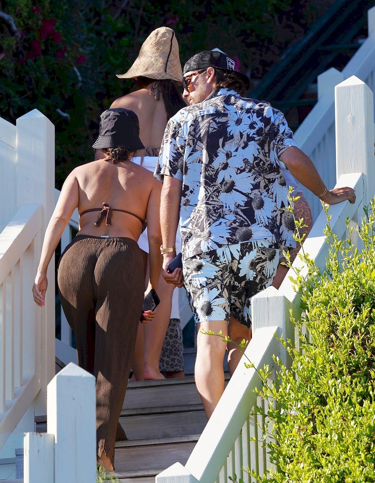Kourtney Kardashian i Scott Disick na wspólnych wakacjach.