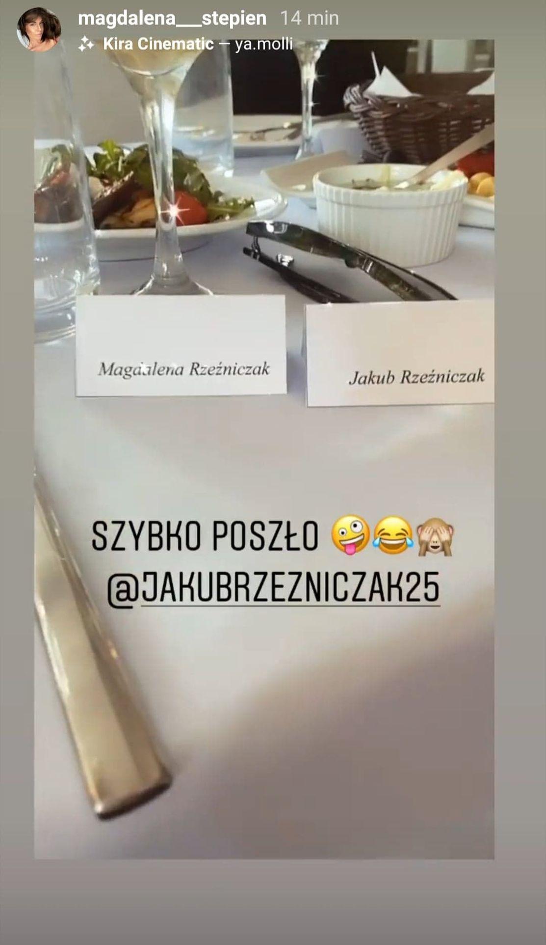 Jakub Rzeźniczak wziął ślub z Magdą Stępień?