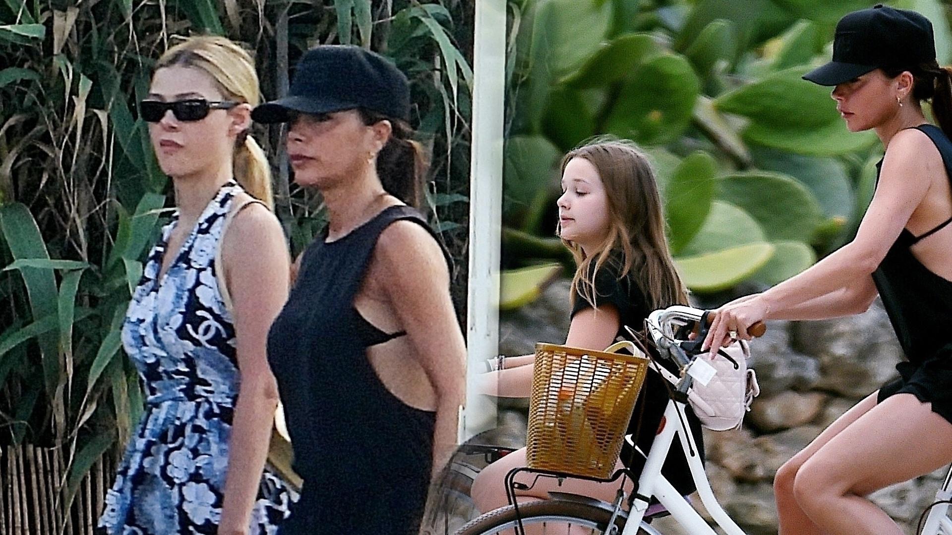 Beckhamowie na włoskich wakacjach. Była z nimi przyszła żona Brooklyna, Nicola Peltz (ZDJĘCIA)