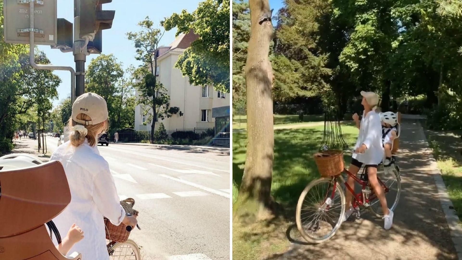 Kasia Tusk na przejażdżce rowerowej z córką. Nie tylko brak kasku ZANIEPOKOIŁ obserwatorów