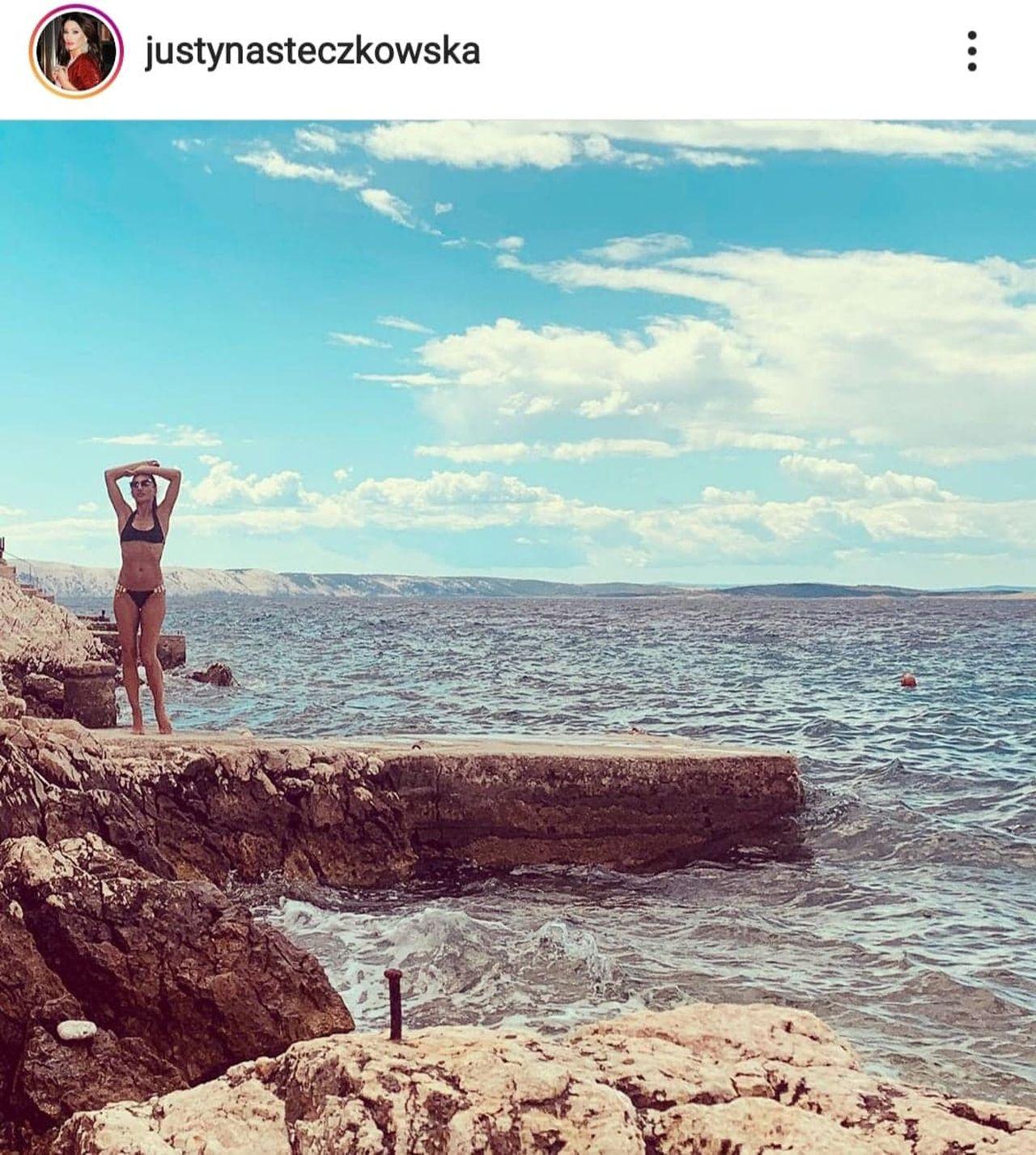 Justyna Steczkowska w bikini