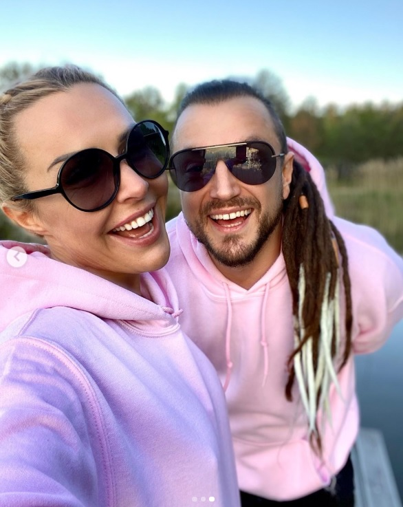 Blanka Lipińska i Baron. Fot. Instagram