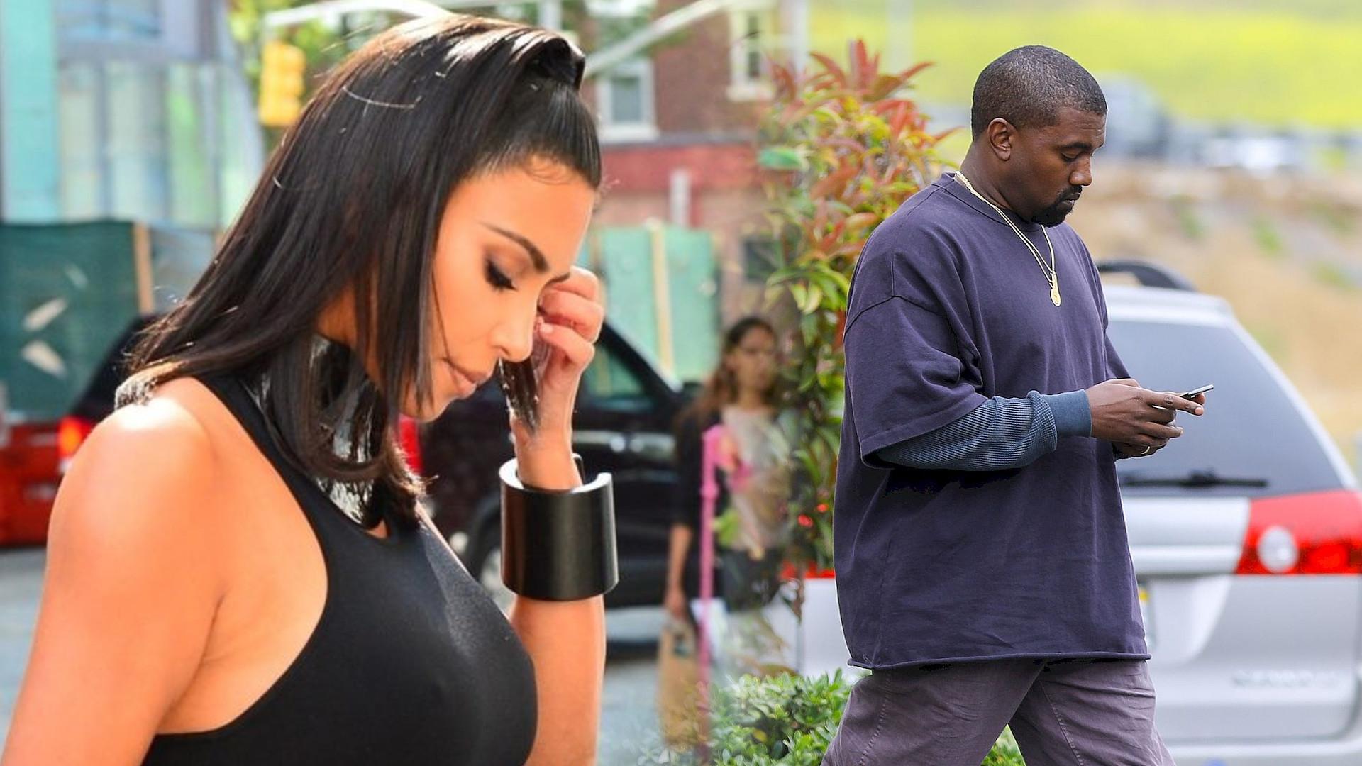 Kanye West napisał na Twitterze: Próbuje się ROZWIEŚĆ. Kim Kardashian chciała mu pomóc