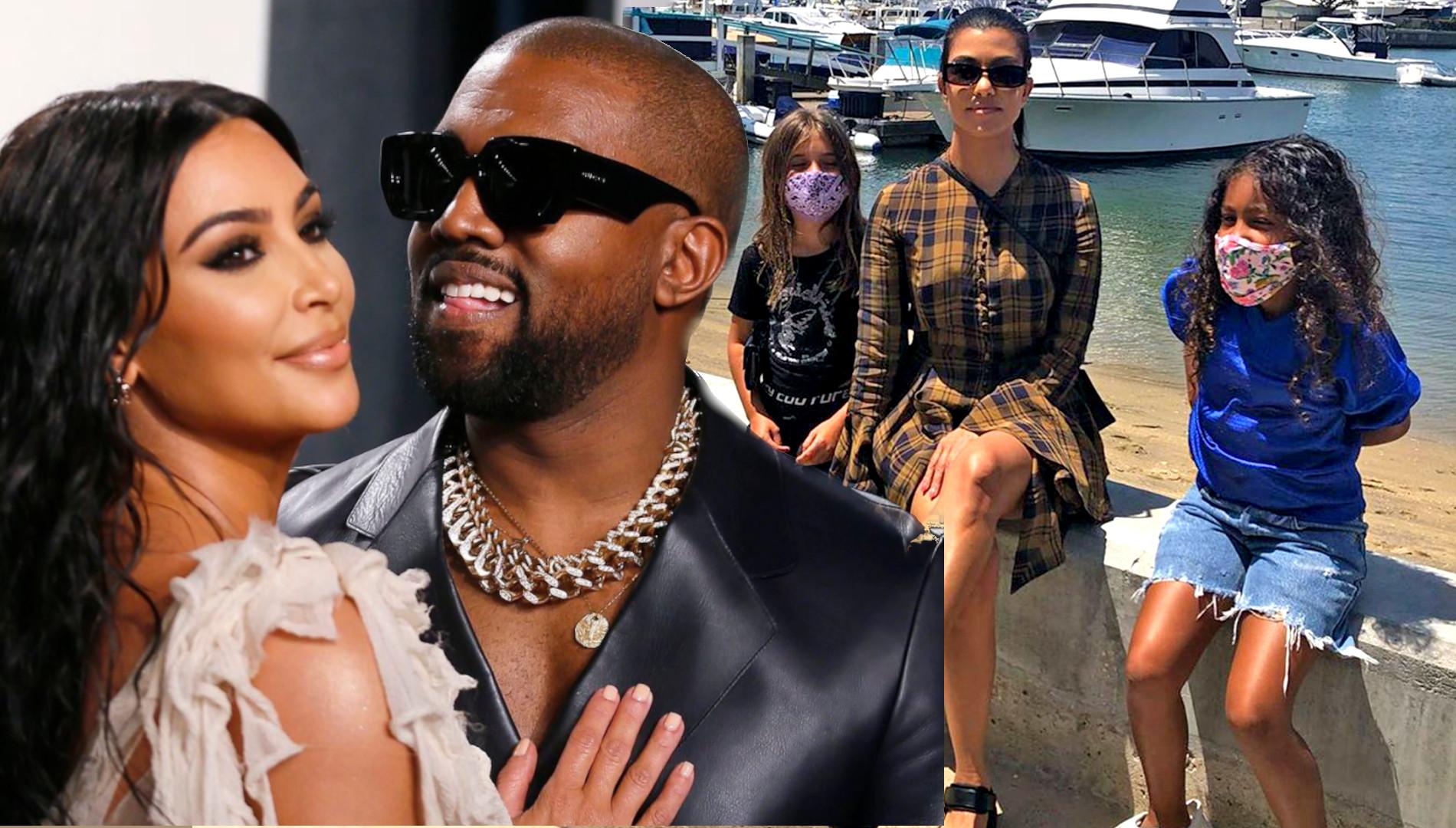 """Kourtney Kardashian zabrała dzieci Kim na WAKACJE. Fani: """"Gdzie twoja MASECZKA?"""""""