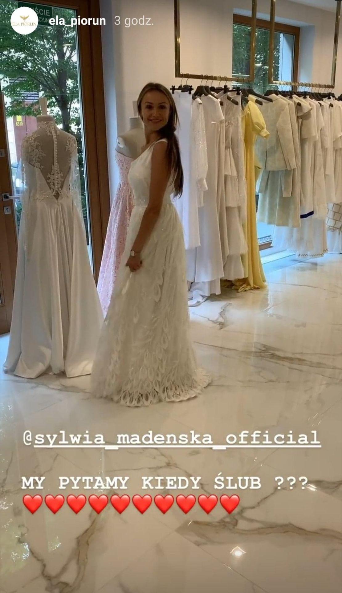 Sylwia Madeńska w sukni ślubnej