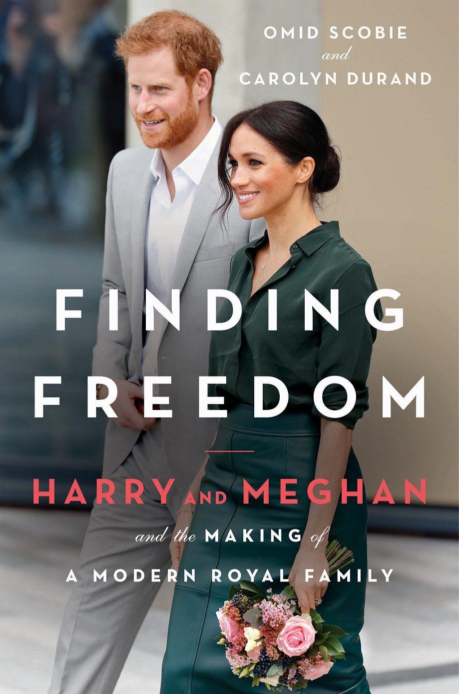 Okładka biografii Meghan Markle i księcia Harry'ego.