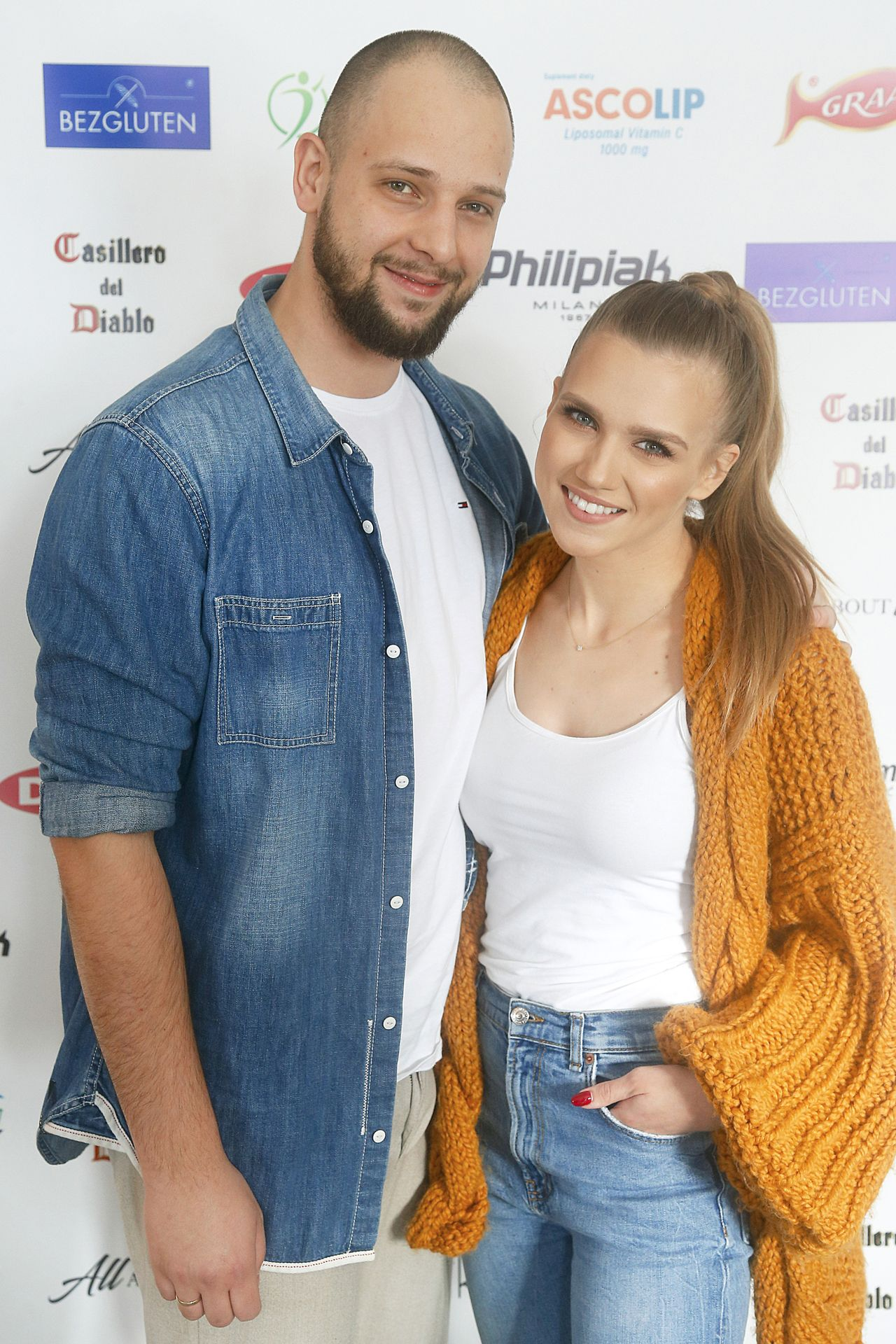 Agnieszka Kaczorowska i Maciej Pela na ściance