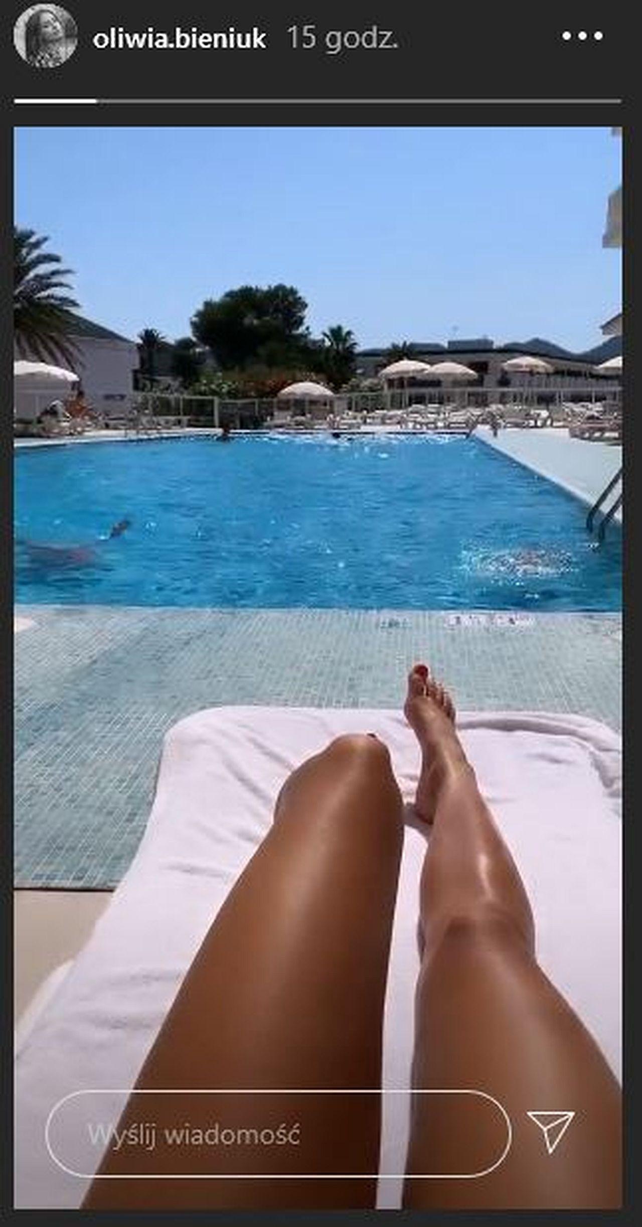 Oliwia Bieniuk na wakacjach