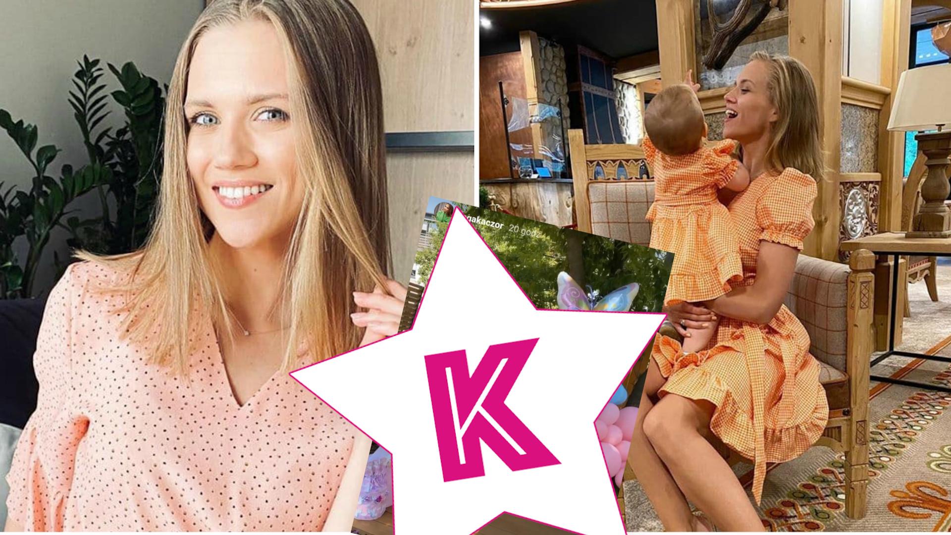 Córka Agnieszki Kaczorowskiej skończyła rok. Rodzice zorganizowali jej BAJKOWE przyjęcie w ogródku