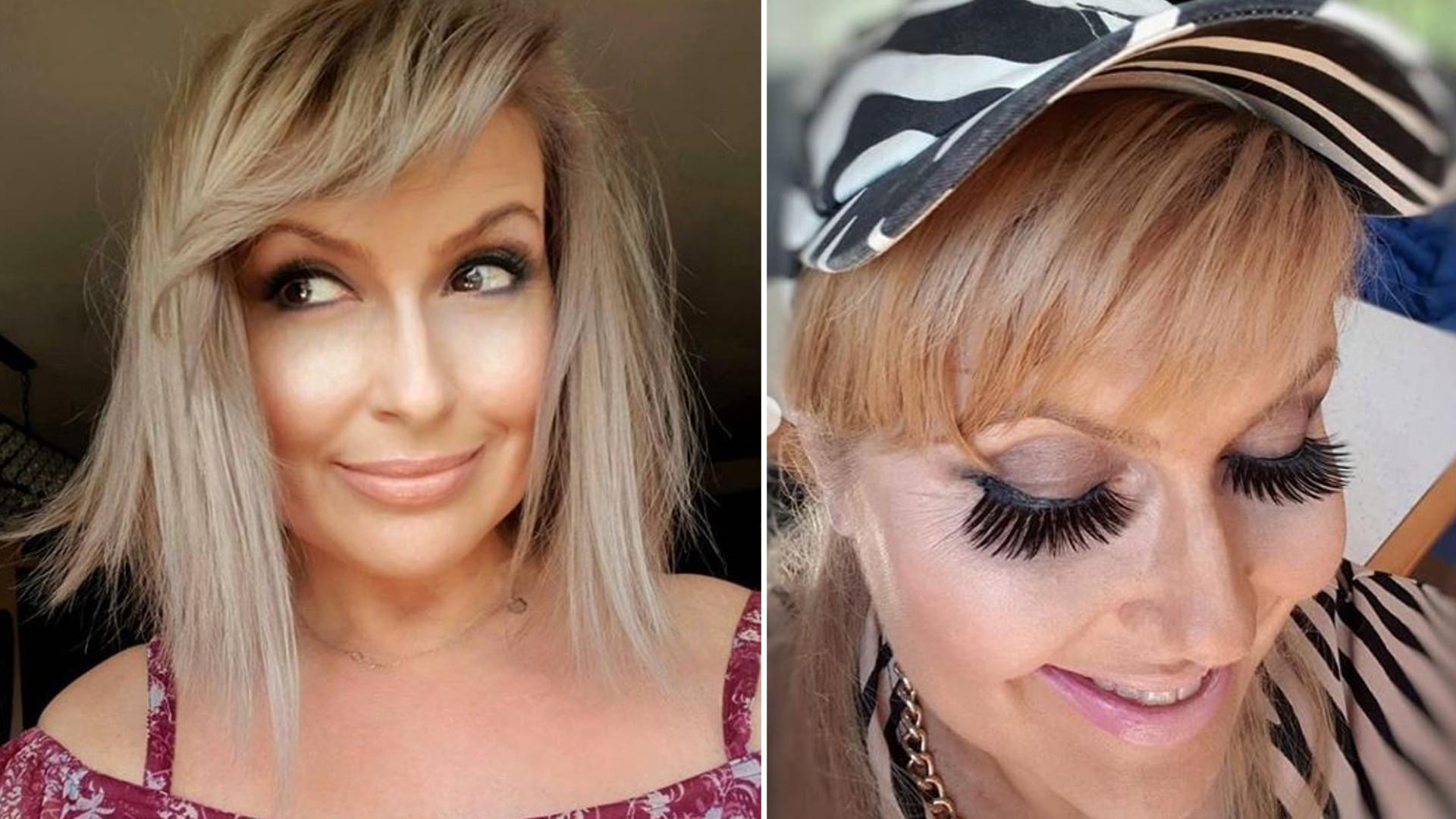 """Katarzyna Skrzynecka w kiczowatym makijażu i przerażających, sztucznych rzęsach: """"Powieki będą miały zakwasy"""""""