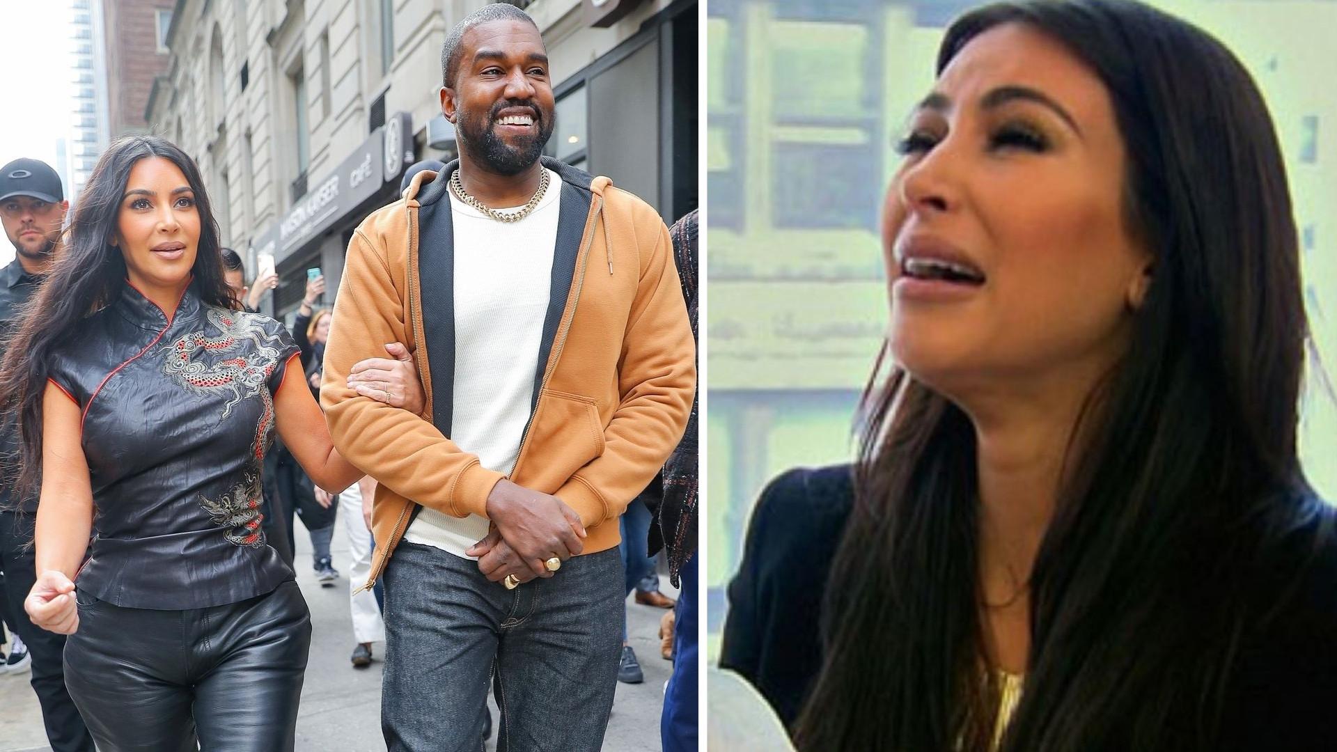 Cała we łzach Kim Kardashian przyłapana na KŁÓTNI z mężem. Gwiazda już nie ma siły