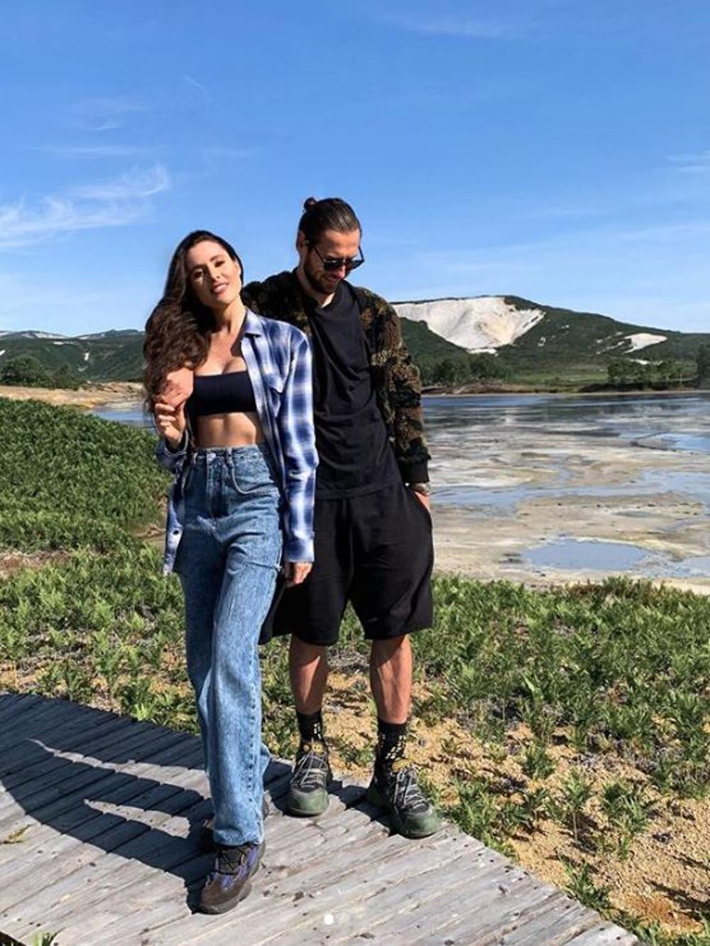 Grzegorz Krychowiak z żoną Celią na wakacjach.
