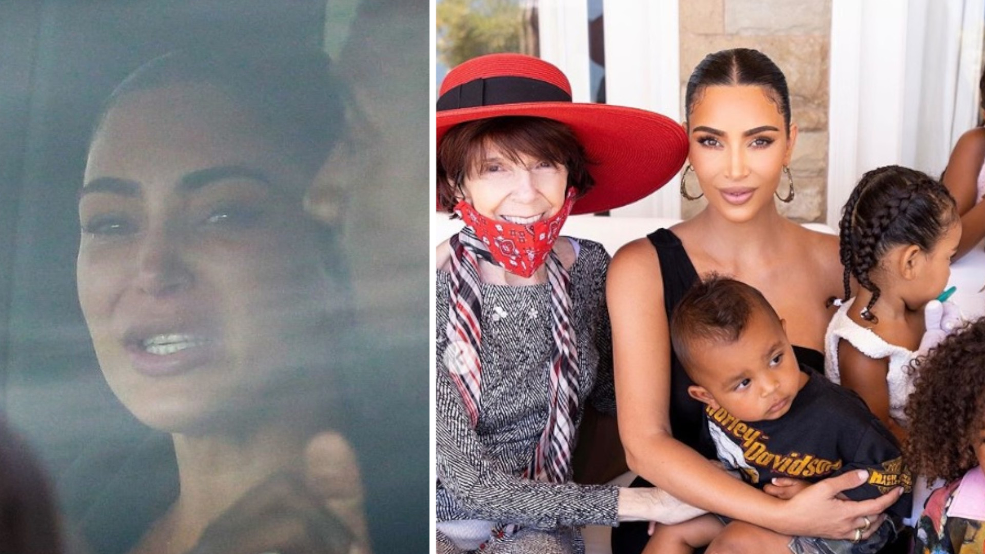 Kim Kardashian po powrocie z Wyoming, urządziła urodzinowe przyjęcie babci (ZDJĘCIA)