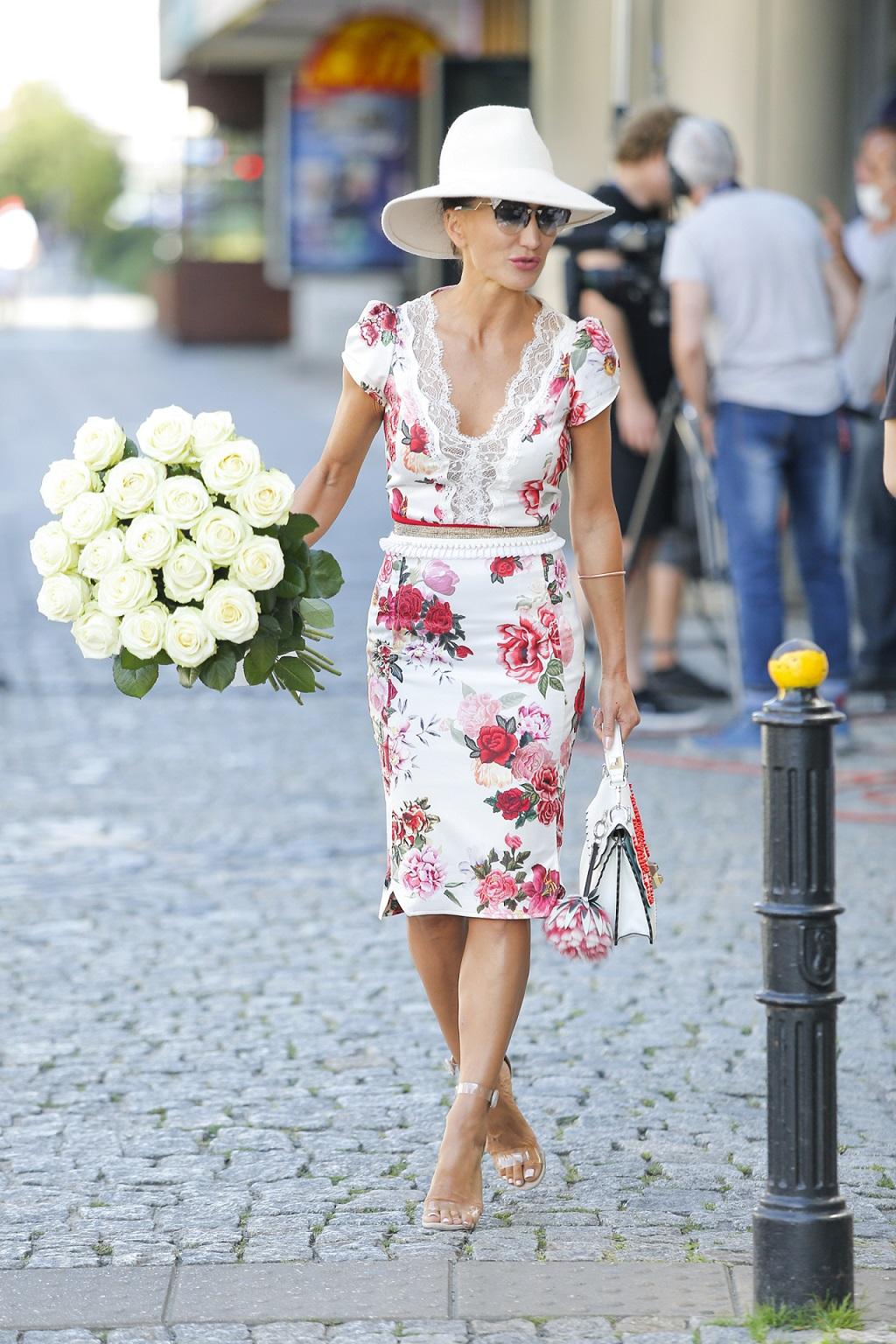 Justyna Steczkowska w eleganckiej sukience.
