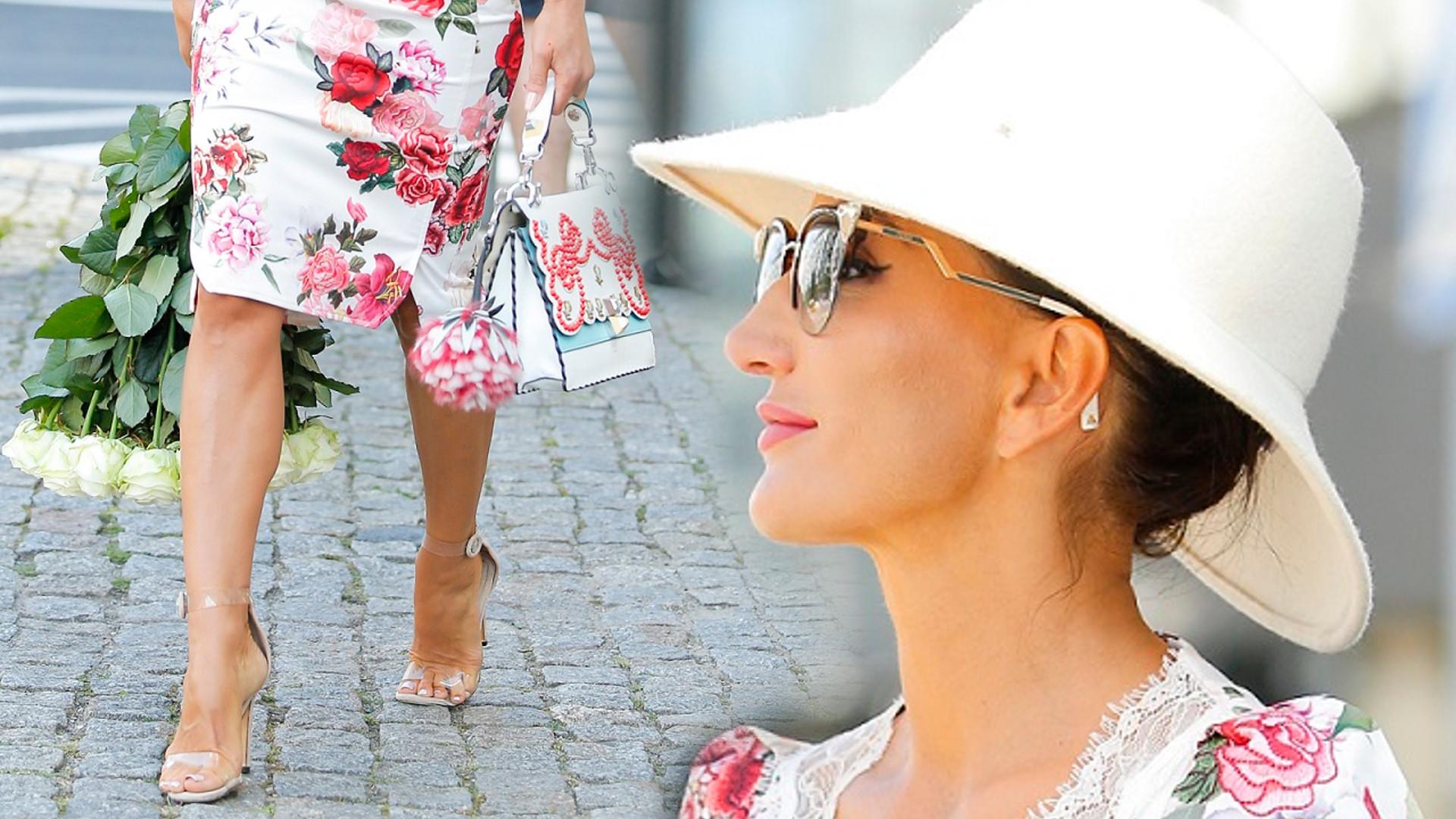 Justyna Steczkowska w kwiecistej sukience – takiego stroju nie powstydziłaby się sama Kate Middleton