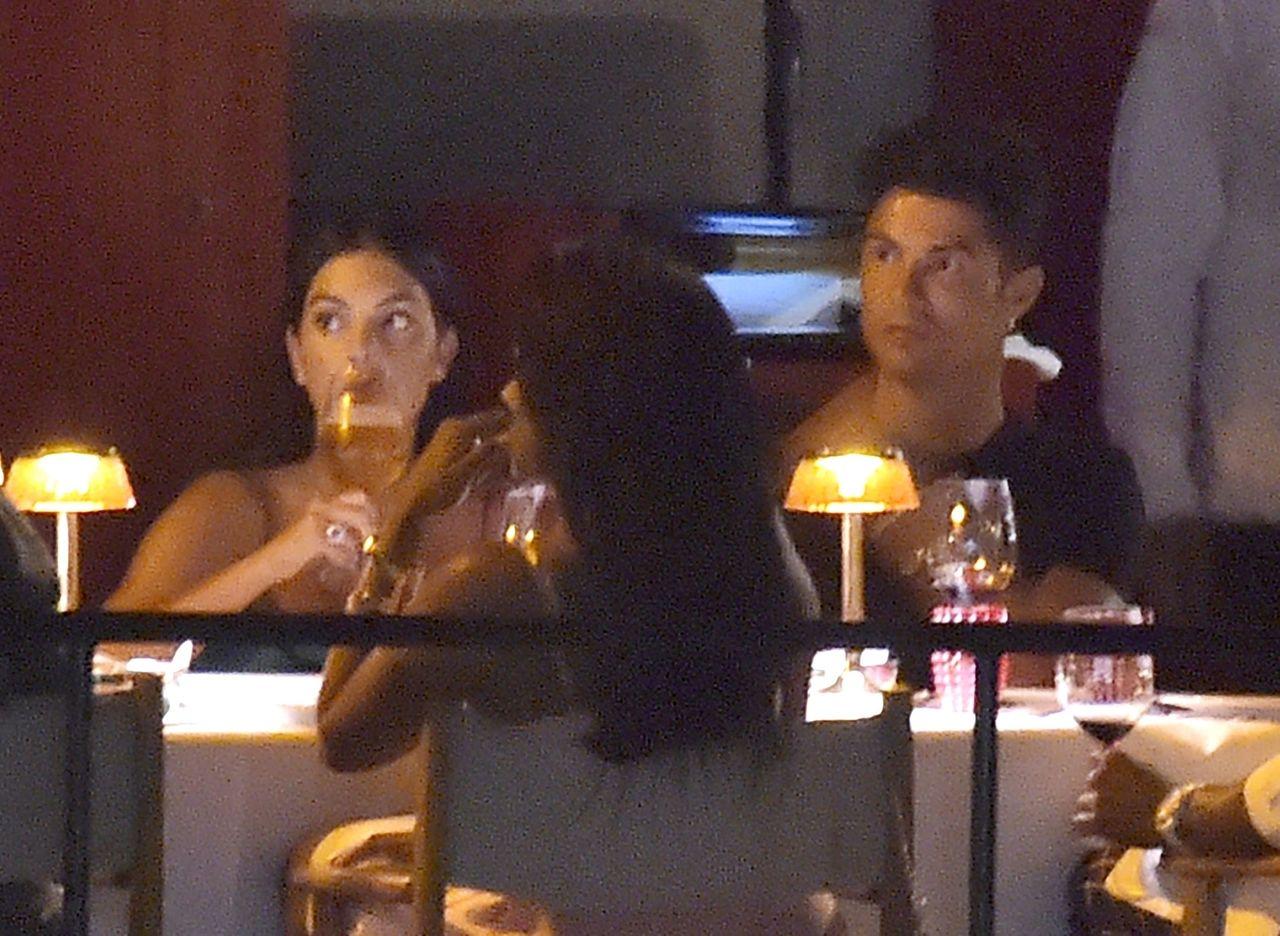 Cristiano Ronaldo i Georgina Rodriguez na kolacji