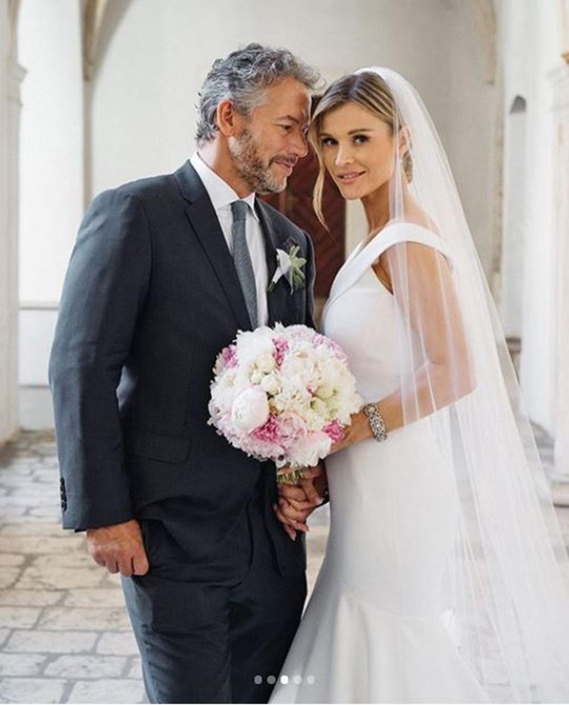 Joanna Krupa i Douglas Nunes w dniu ślubu.