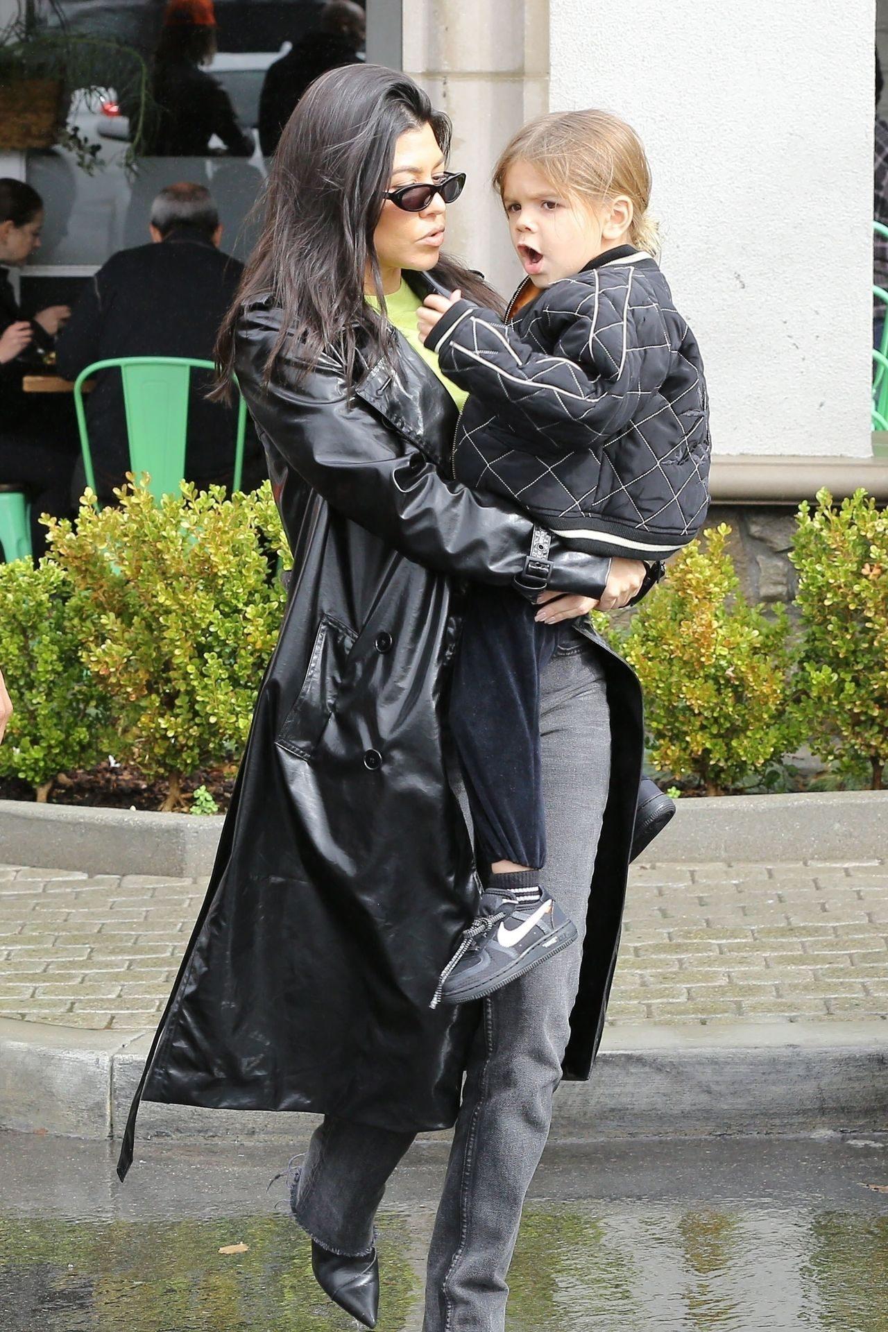 Kourtney Kardashian z najmłodszym synem.