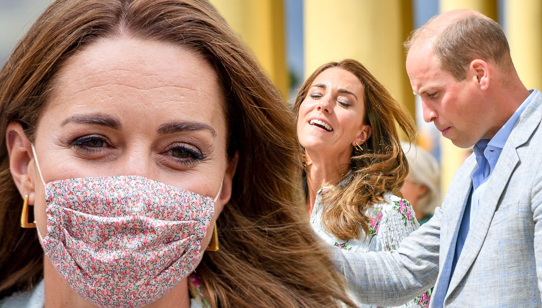 Kate Middleton PO RAZ DRUGI w kwiecistej sukience. Nie zapomniała o maseczce