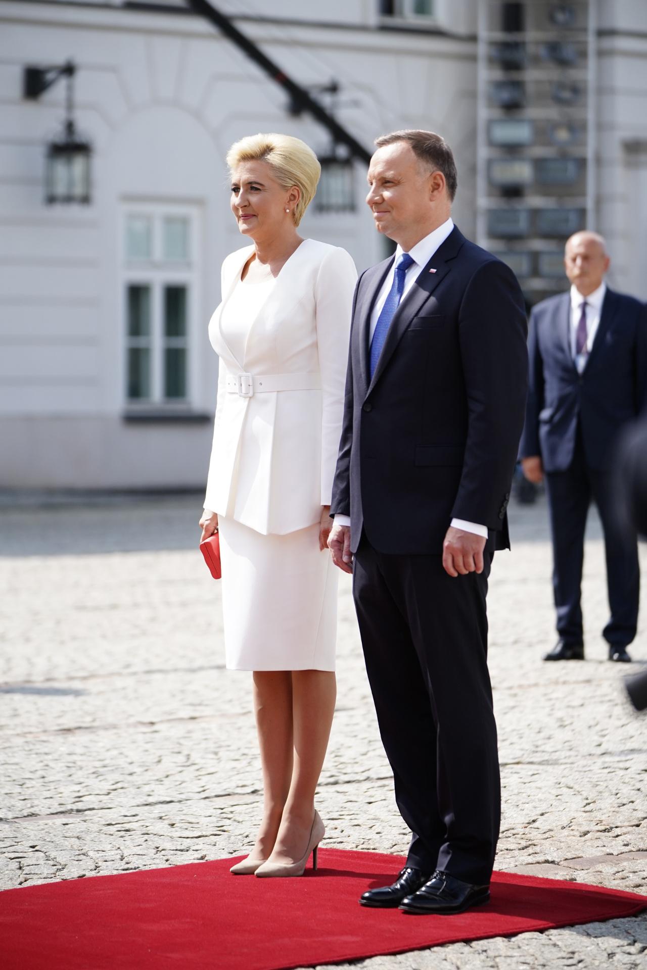 Andrzej Duda z Agatą Dudą na Zaprzysiężeniu.