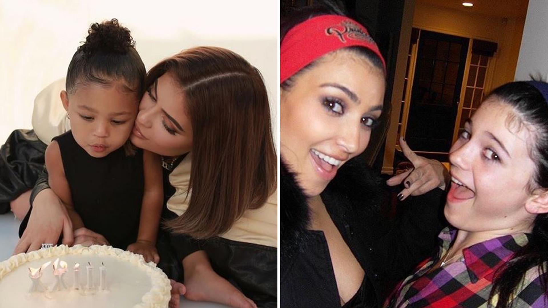 Kylie Jenner świętuje 23. urodziny z córką. Kim Kardashian pokazała mnóstwo jej STARYCH zdjęć