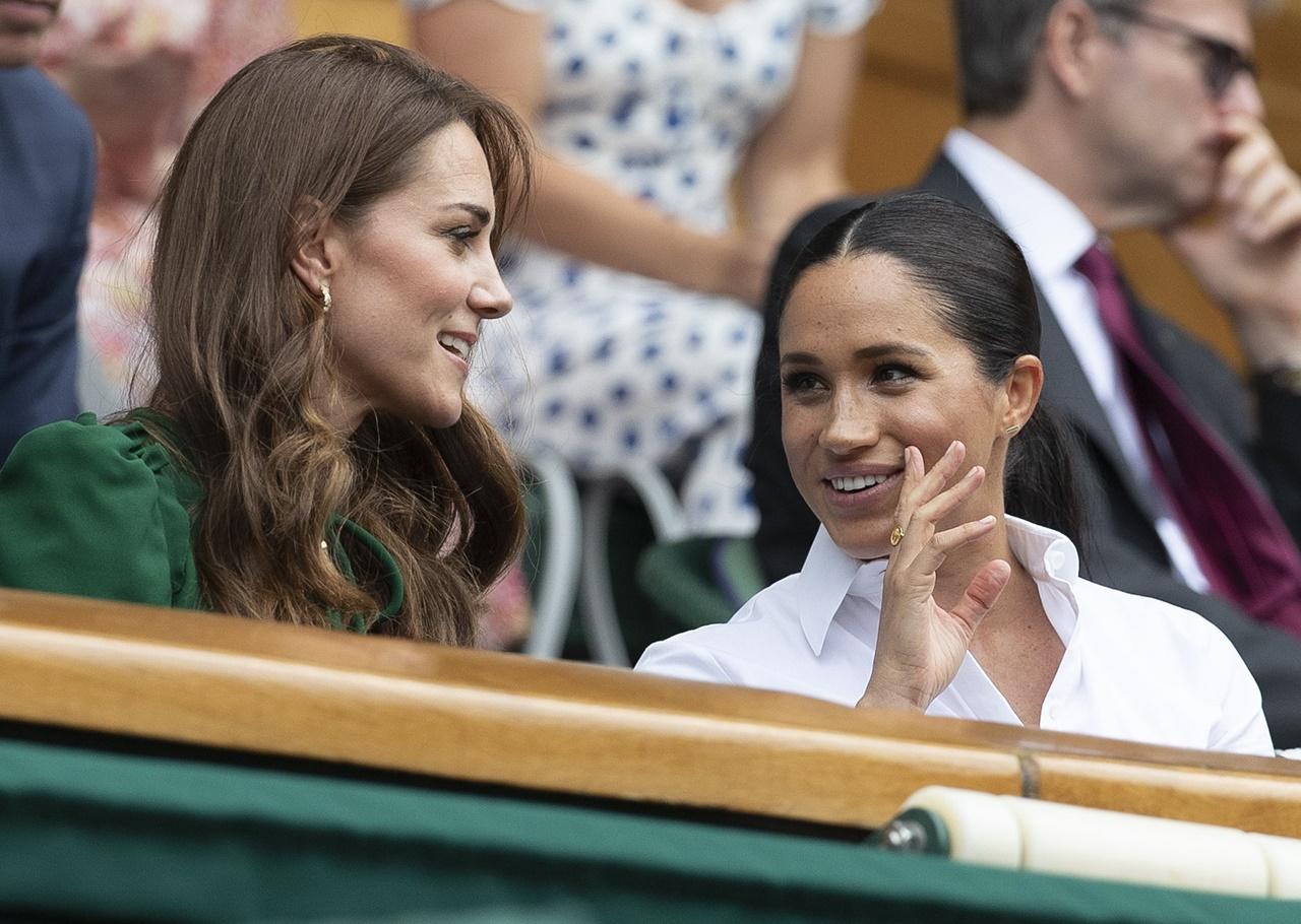 Meghan Markle i Księżna Kate na rozgrywkach Wimbledon.