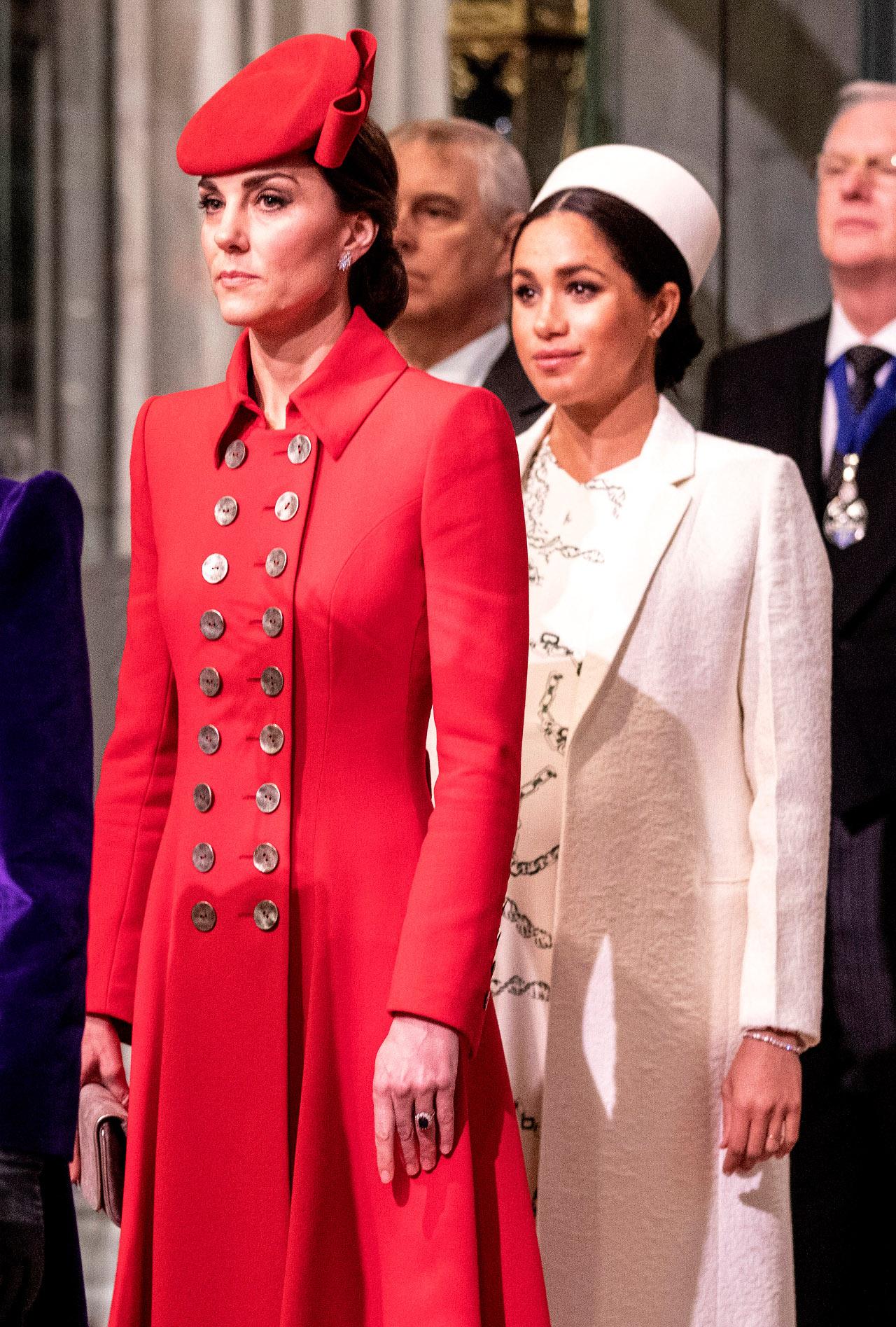 Księżna Kate i Meghan Markle na oficjalnym wystąpieniu.