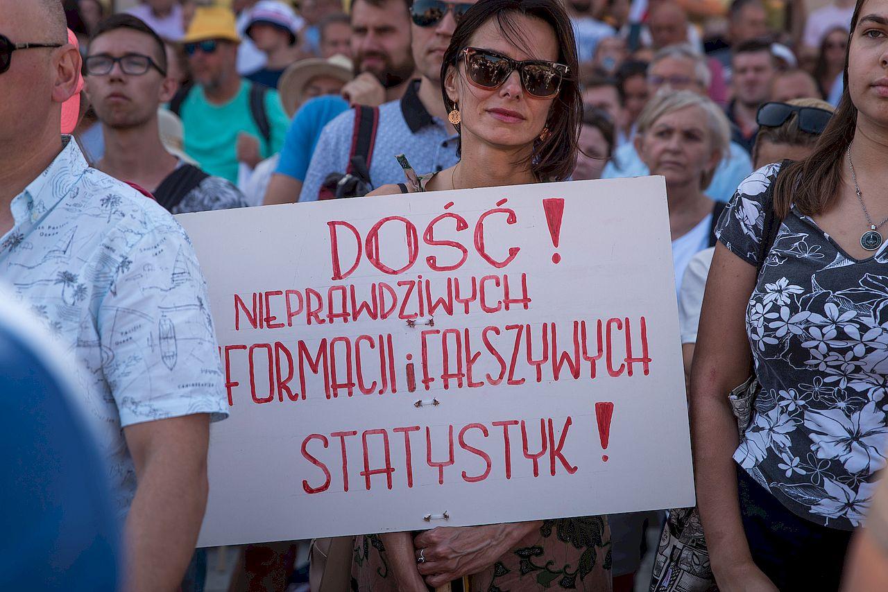 Protest przeciwko pandemii koronawirusa w Polsce