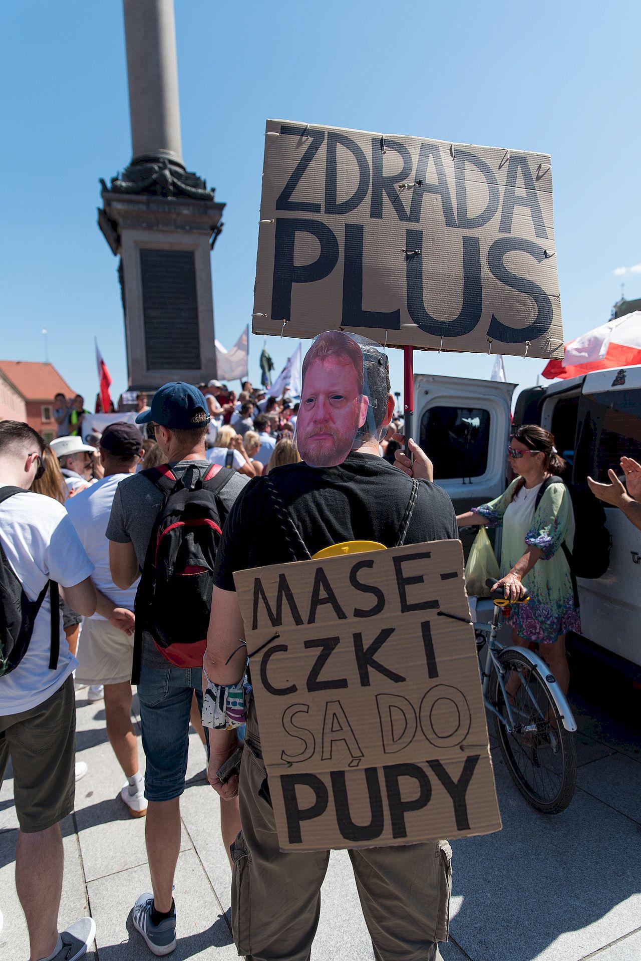 Protest Zakonczyć Plandemię w Warszawie