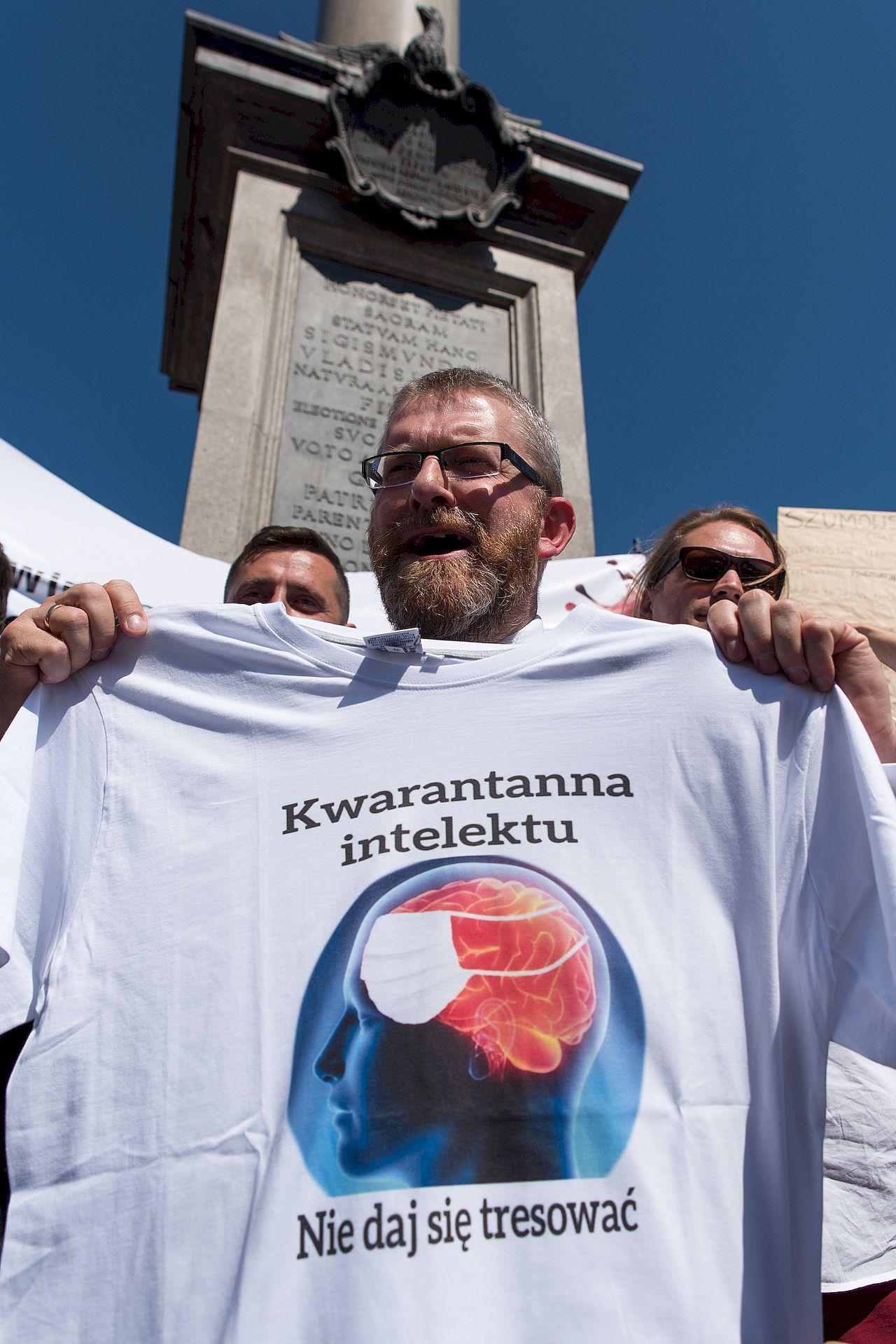 Protest Zakonczyć Pandemię w Warszawie