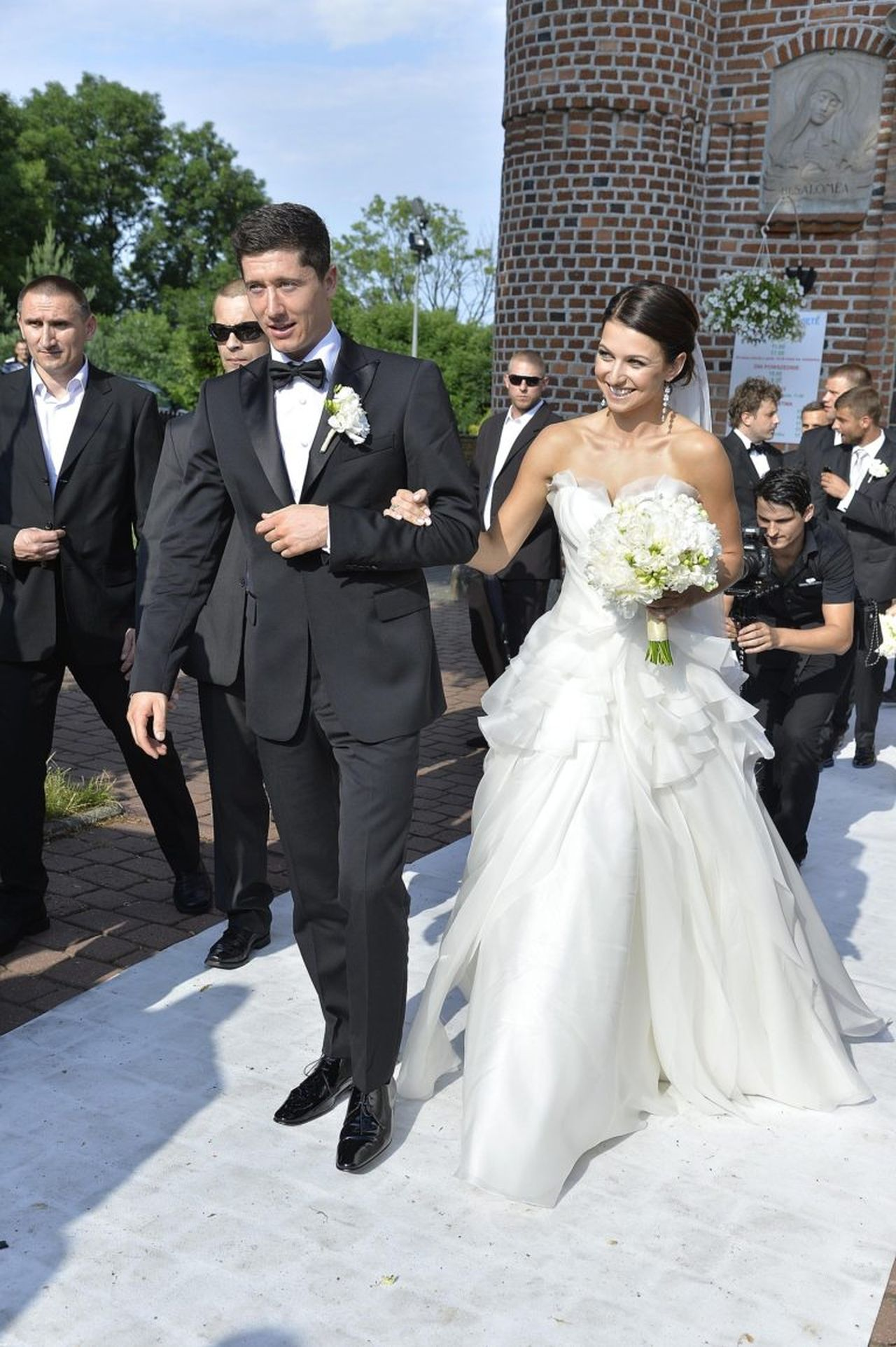 Robert Lewandowski i Anna Stachurska na swoim ślubie