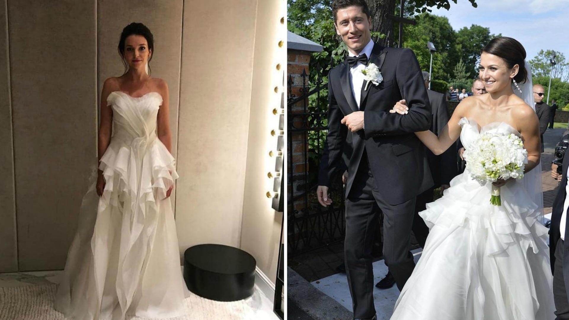 Maria Dębska i Anna Lewandowska w sukniach ślubnych