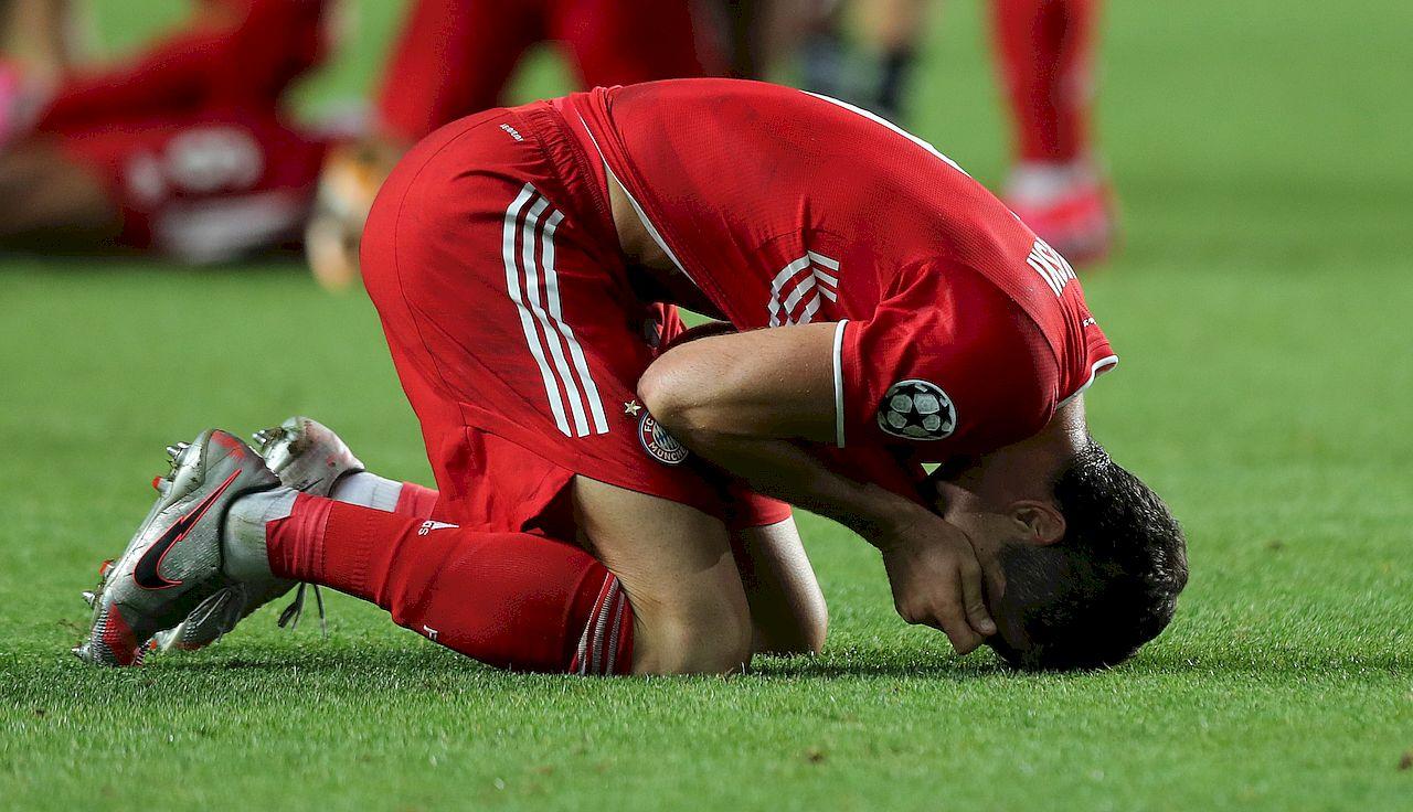 Robert Lewandowski po wygranym meczu z Pucharem Europy
