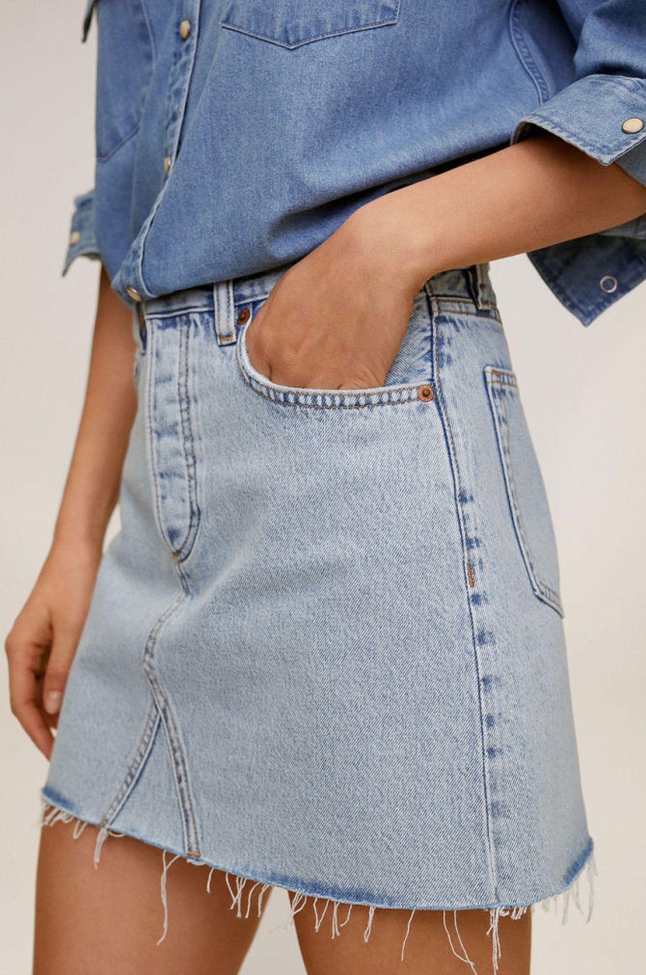 Jeansowa spódnica mini