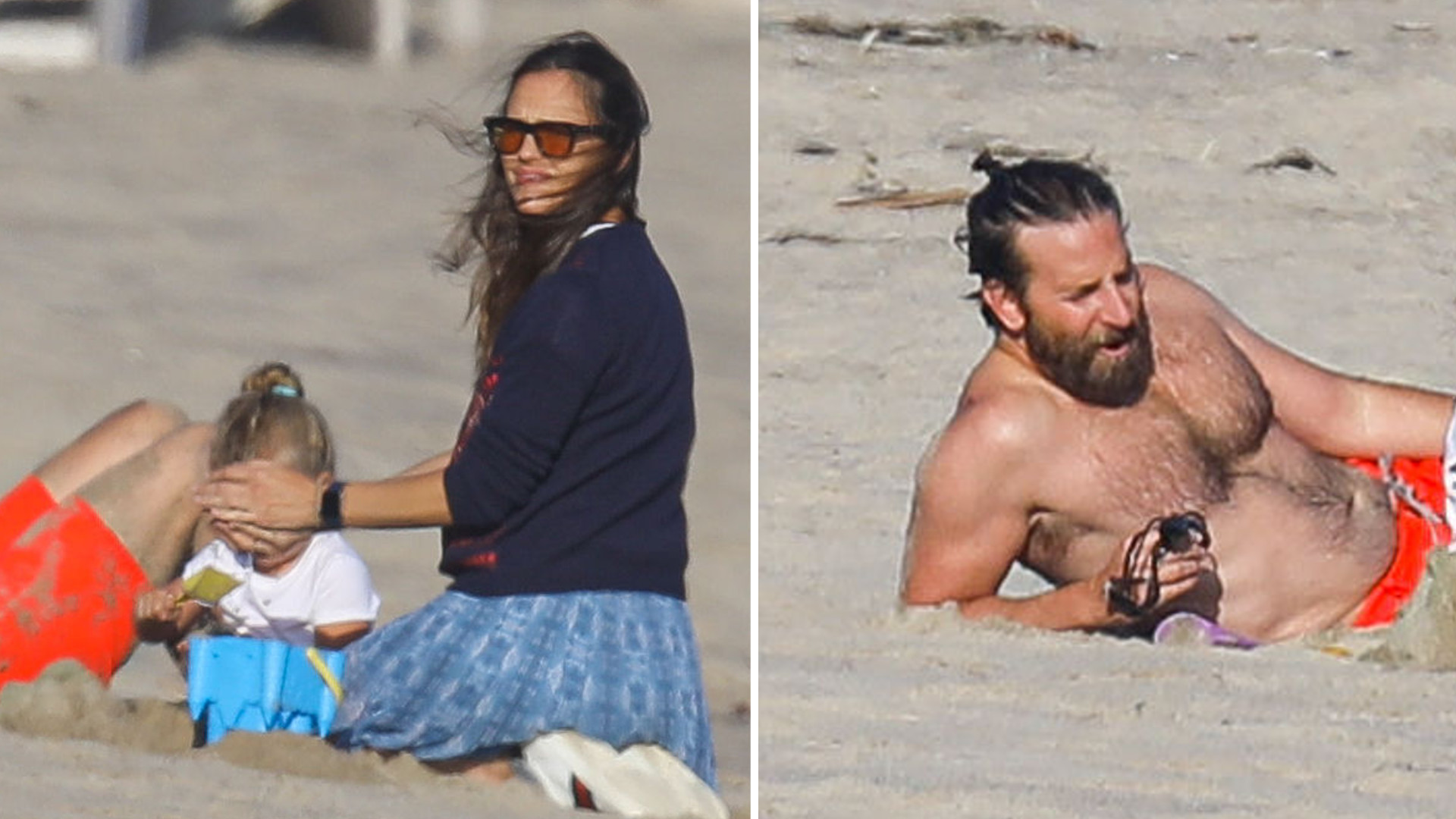 ROMANS potwierdzony! Bradley Cooper z córką i Jennifer Garner razem na plaży (ZDJĘCIA)
