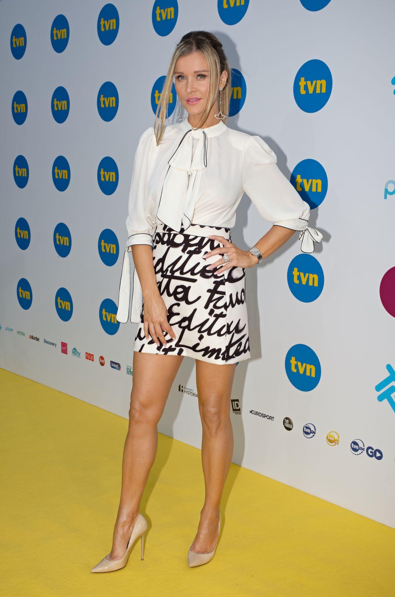 Joanna Krupa na ściance TVN