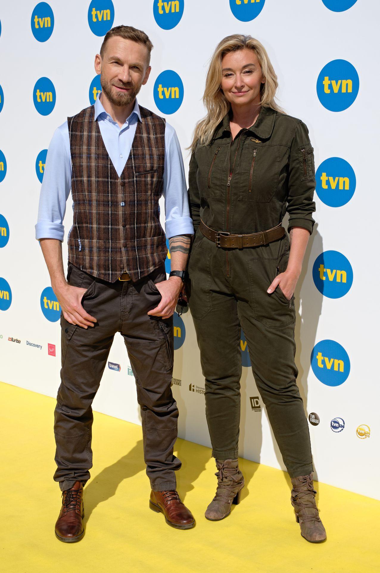 Przemek Kossakowski i Martyna Wojciechowska na ściance
