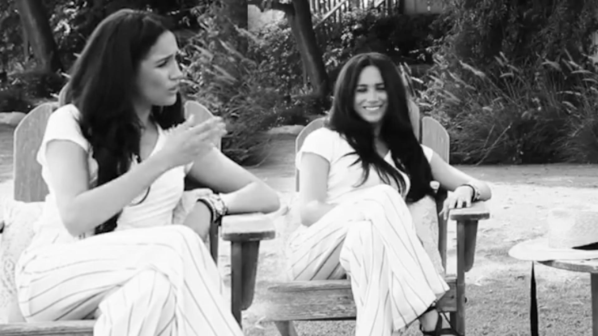 Meghan Markle udzieliła wywiadu w swoim ogrodzie. Nagle w rozmowie przeszkodziły jej psy